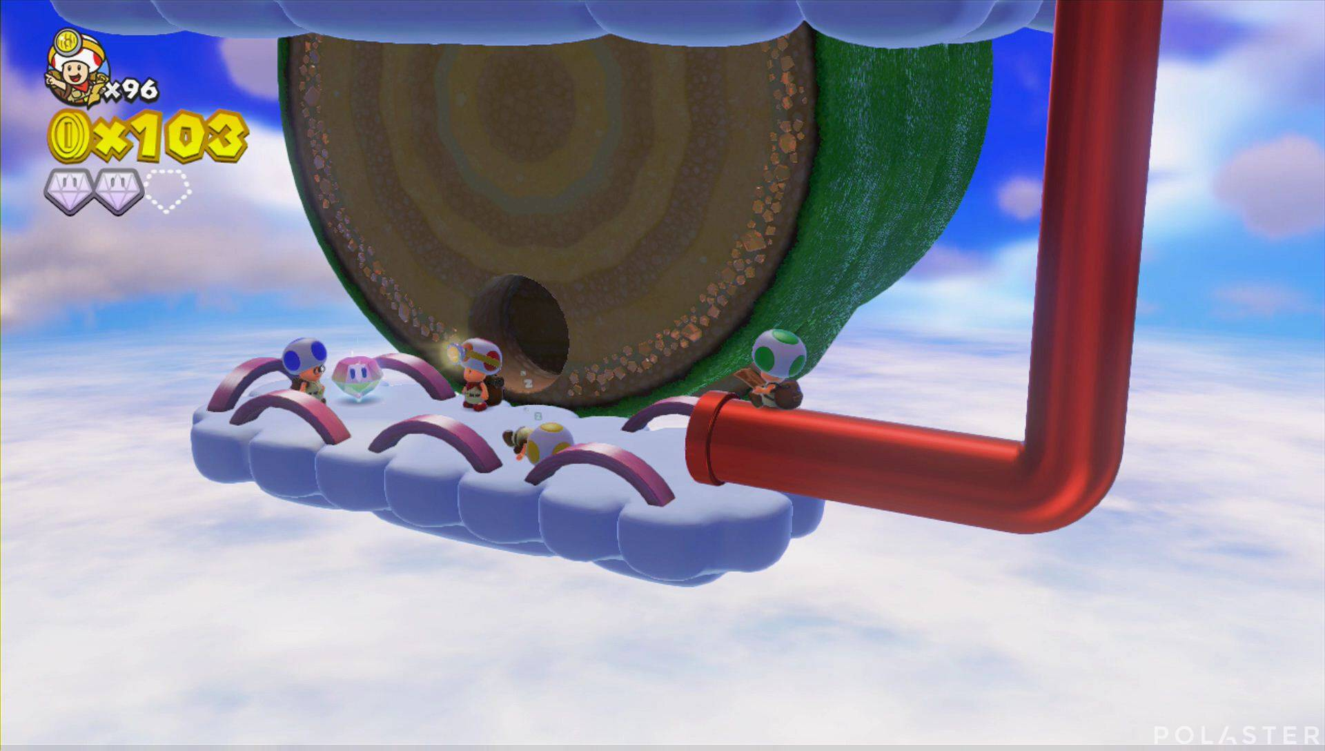 Captain Toad: Treasure Tracker Parte 3 Nivel 20 Superdiamante 3