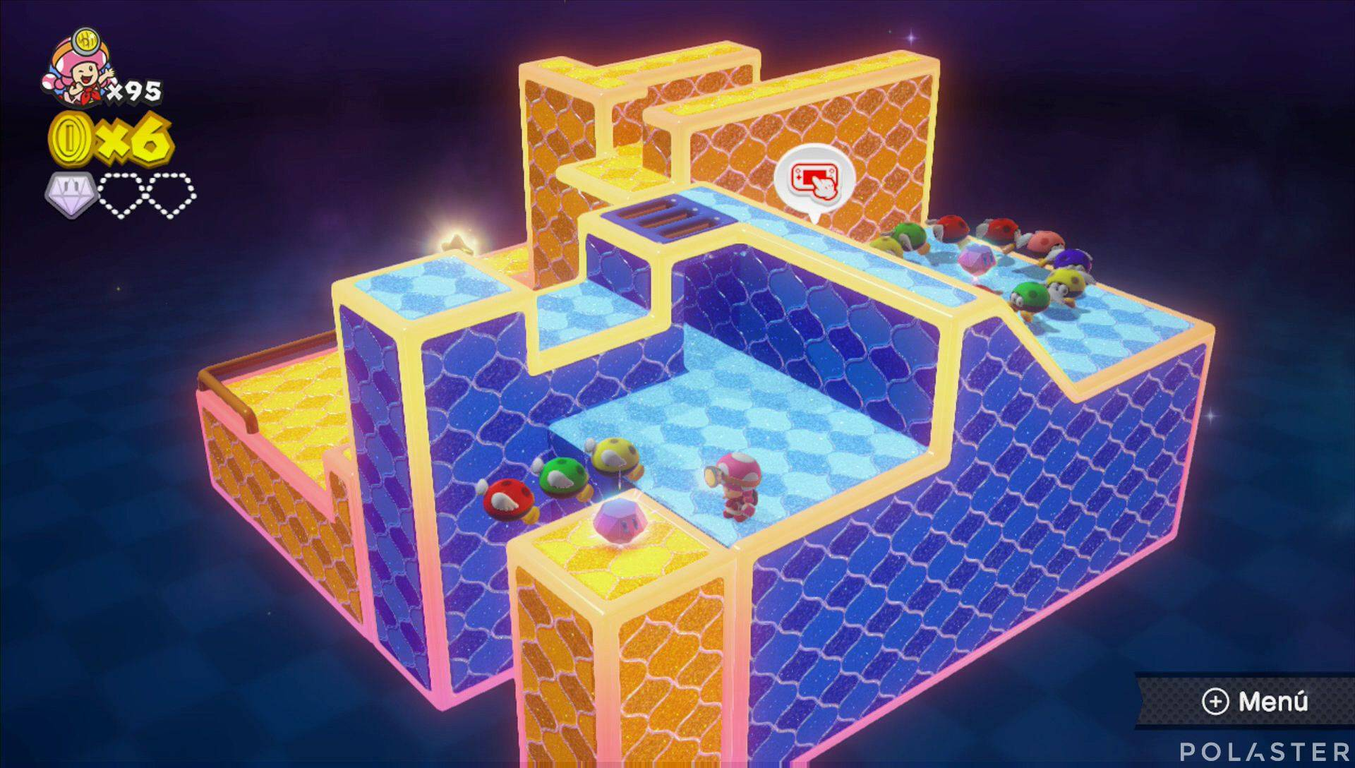 Captain Toad: Treasure Tracker Parte 3 Nivel 22 Superdiamante 2