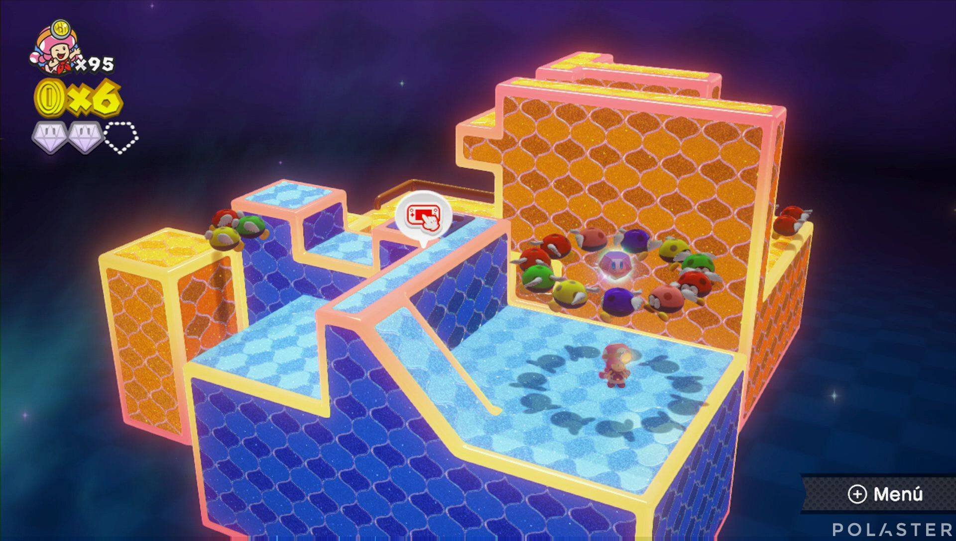 Captain Toad: Treasure Tracker Parte 3 Nivel 22 Superdiamante 3