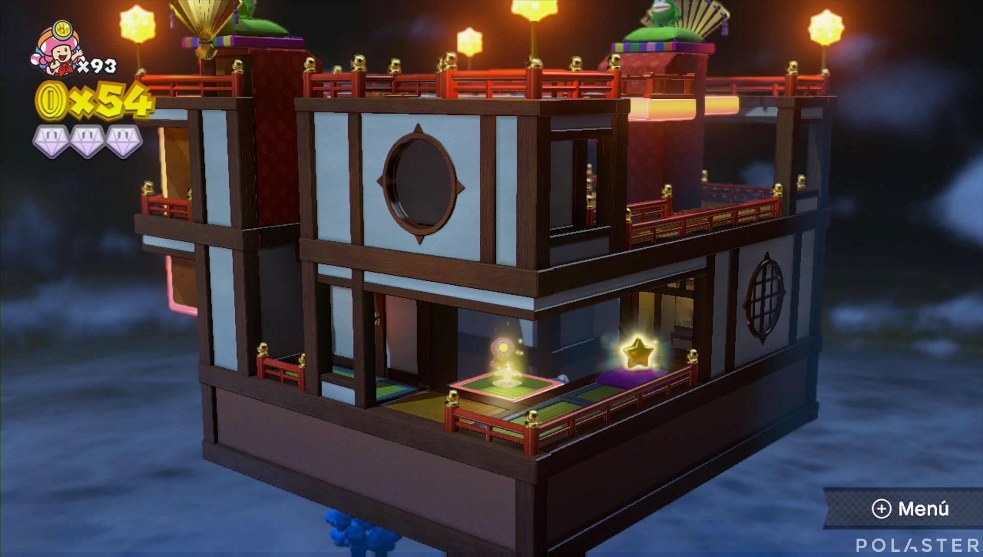 Captain Toad: Treasure Tracker Parte 3 Nivel 24 Champiñón dorado