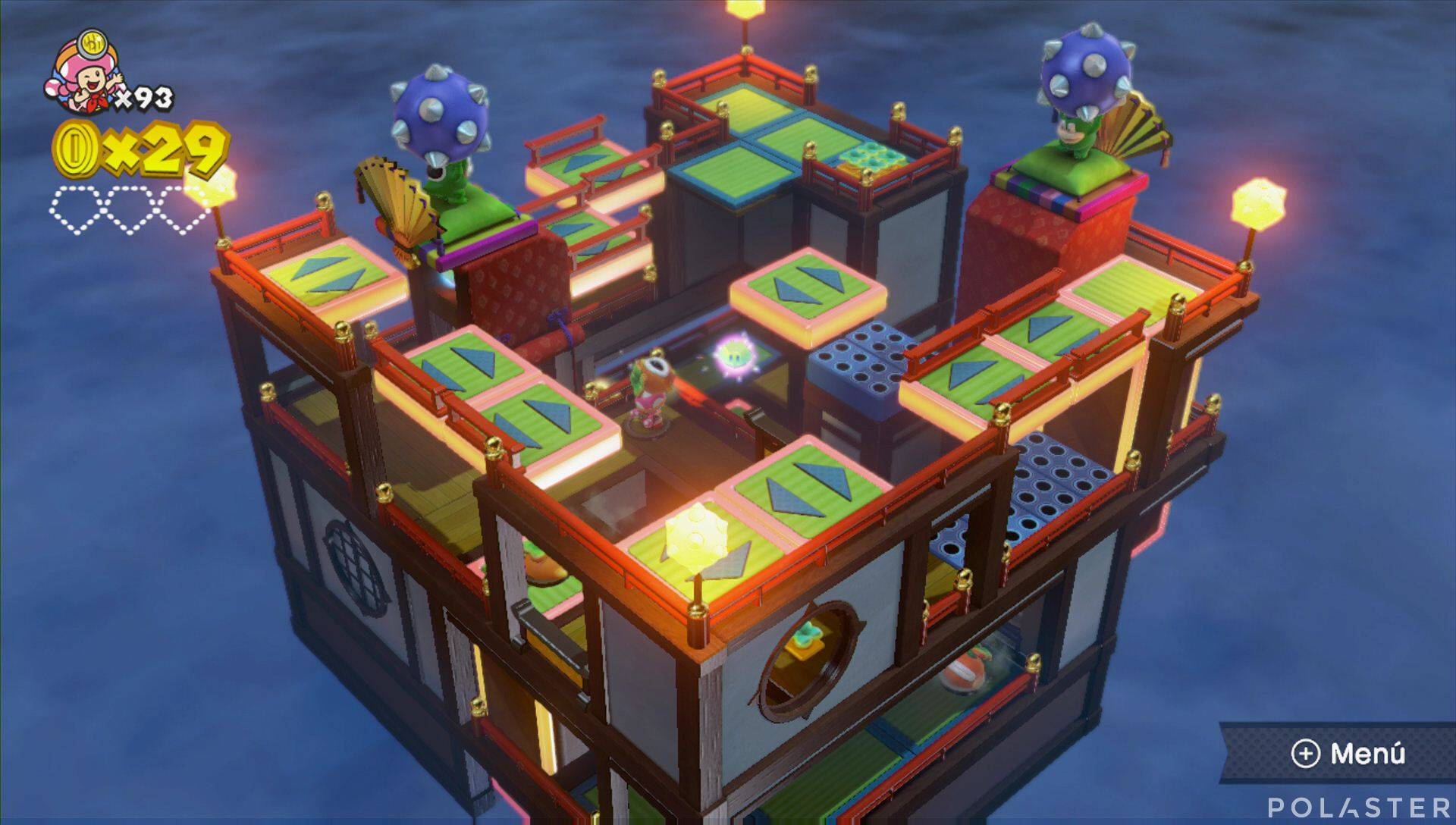 Captain Toad: Treasure Tracker Parte 3 Nivel 24 Superdiamante 1