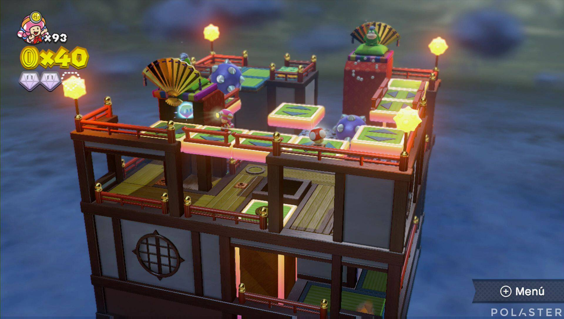 Captain Toad: Treasure Tracker Parte 3 Nivel 24 Superdiamante 3