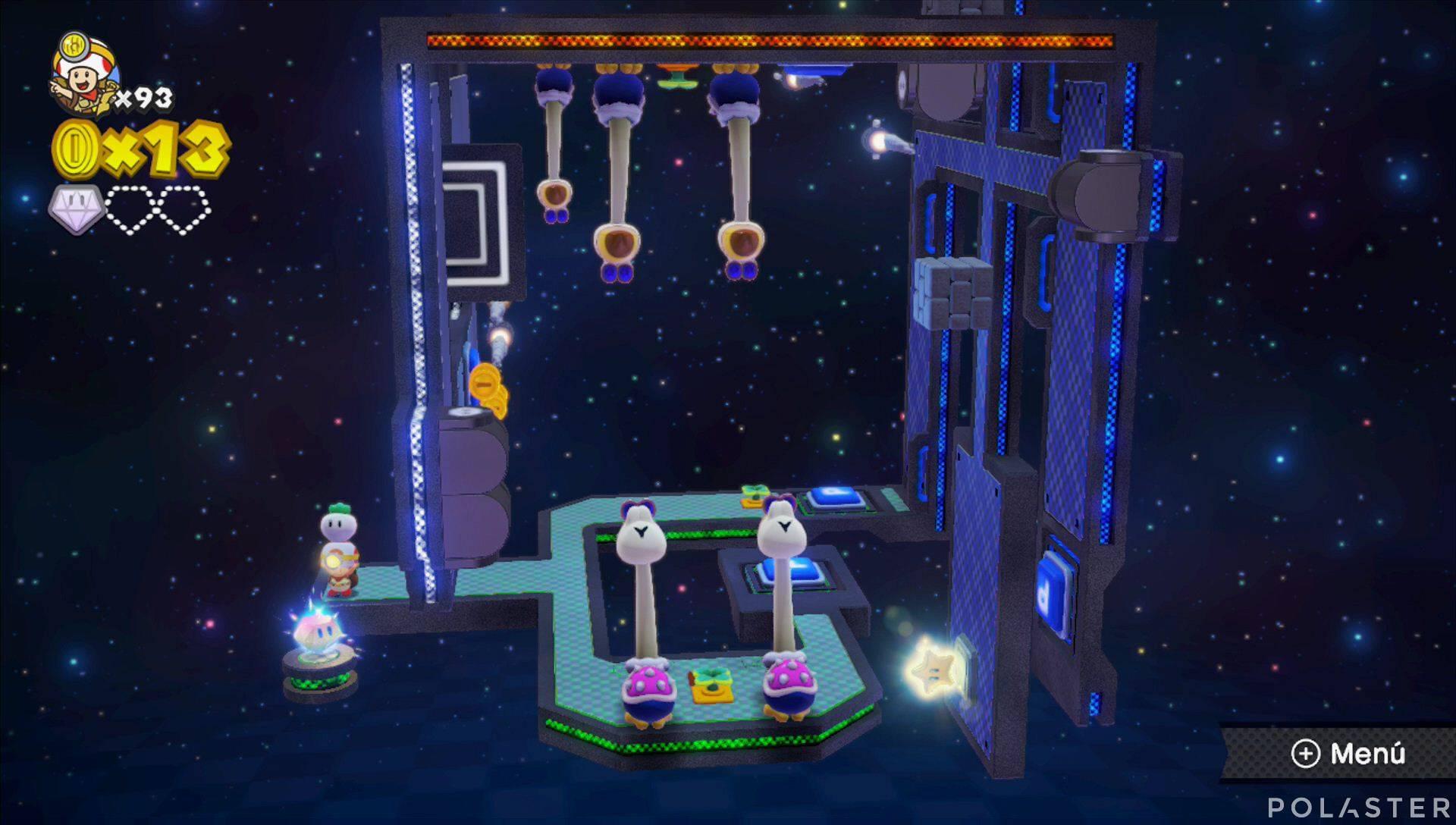 Captain Toad: Treasure Tracker Parte 3 Nivel 25 Superdiamante 2