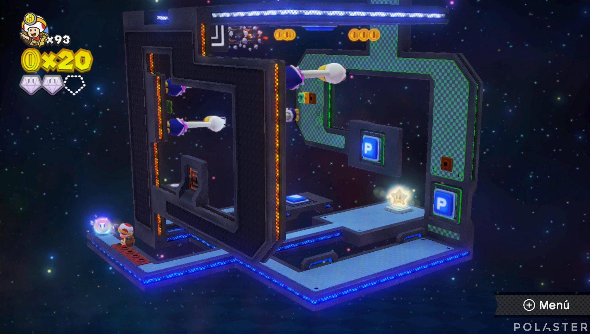 Captain Toad: Treasure Tracker Parte 3 Nivel 25 Superdiamante 3