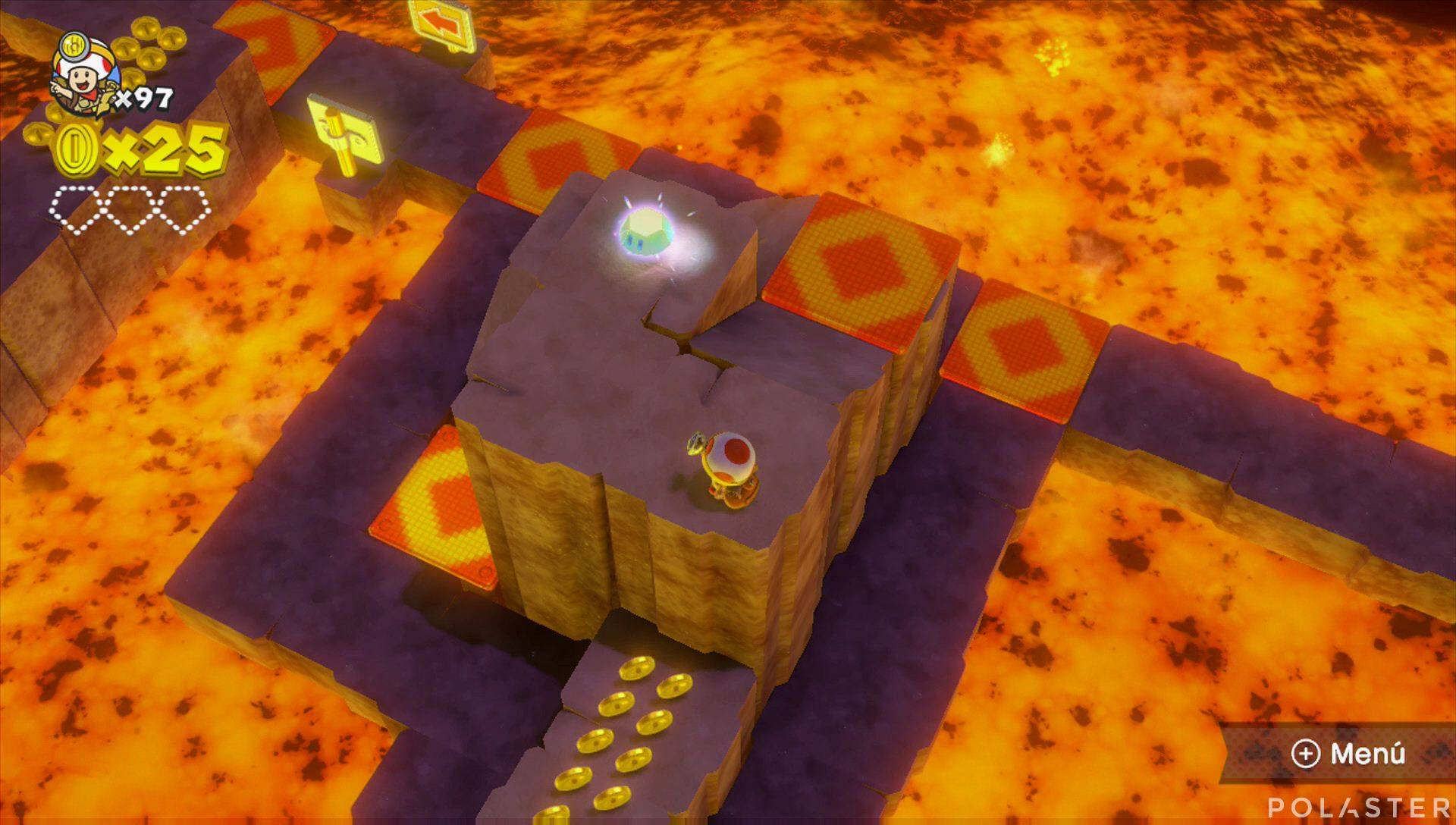 Captain Toad: Treasure Tracker Parte 3 Nivel 26 Superdiamante 1