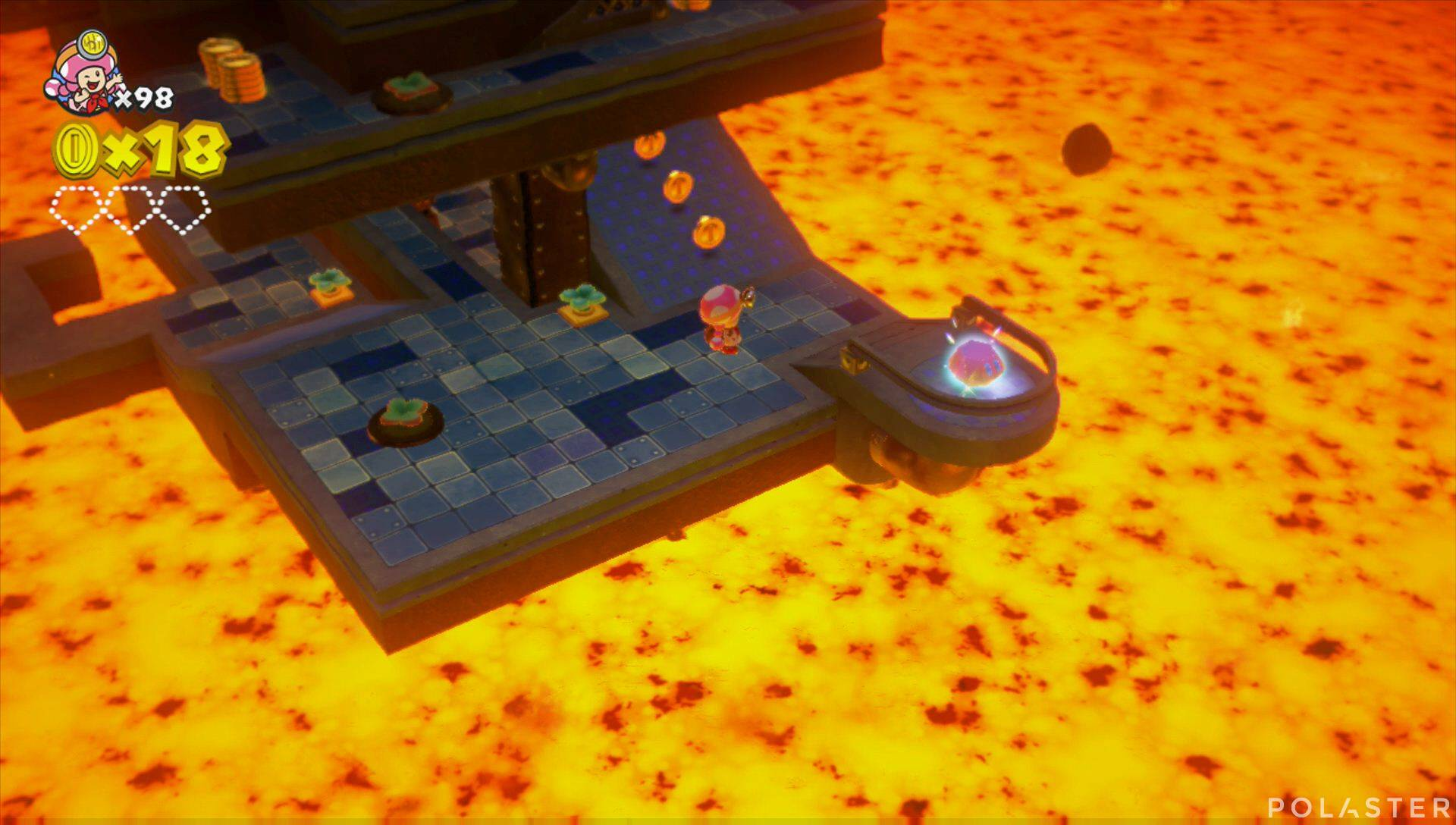 Captain Toad: Treasure Tracker Parte 3 Nivel 27 Superdiamante 1