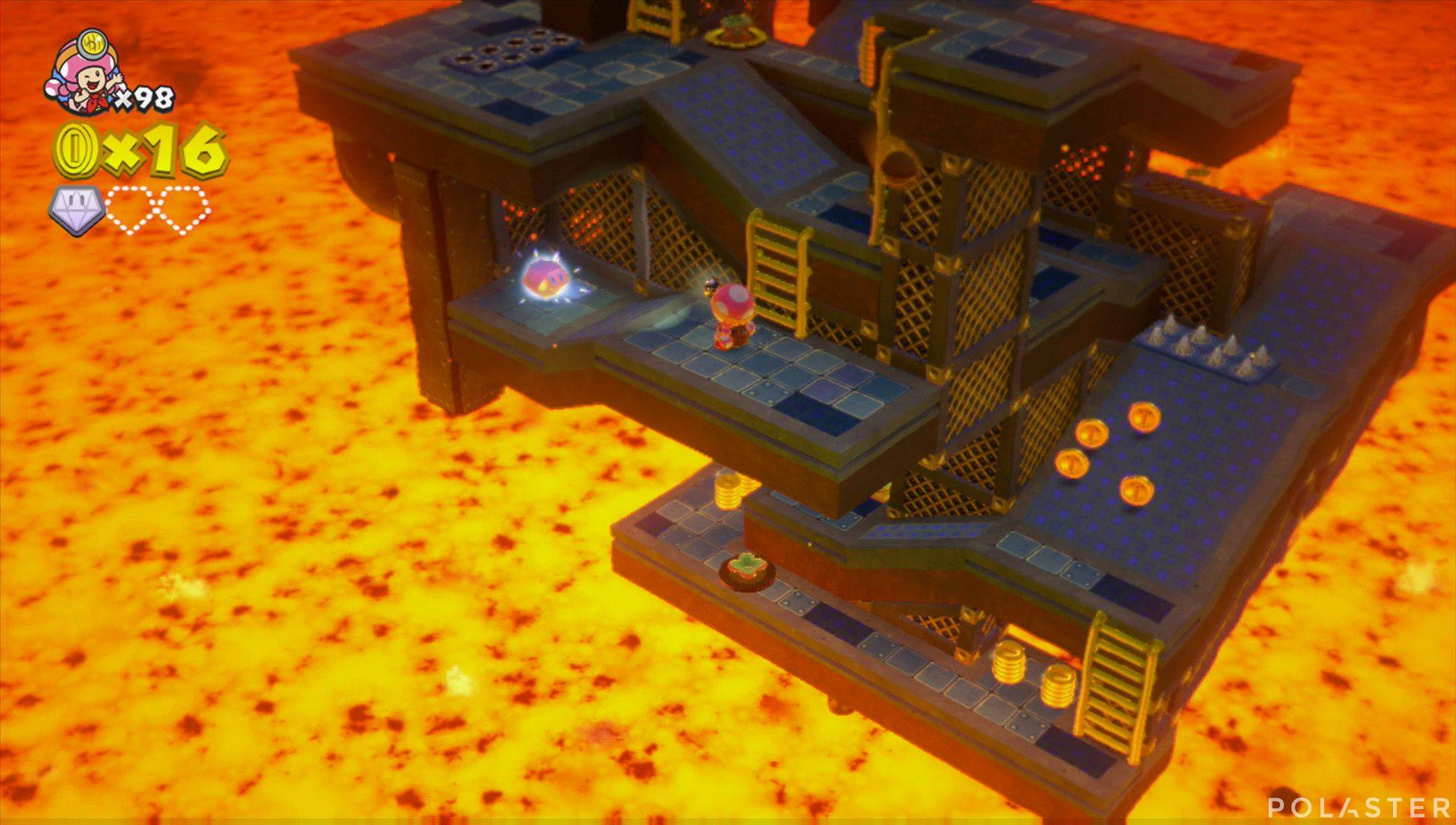 Captain Toad: Treasure Tracker Parte 3 Nivel 27 Superdiamante 2