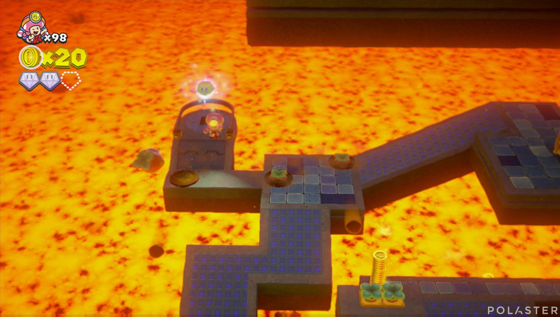 Captain Toad: Treasure Tracker Parte 3 Nivel 27 Superdiamante 3
