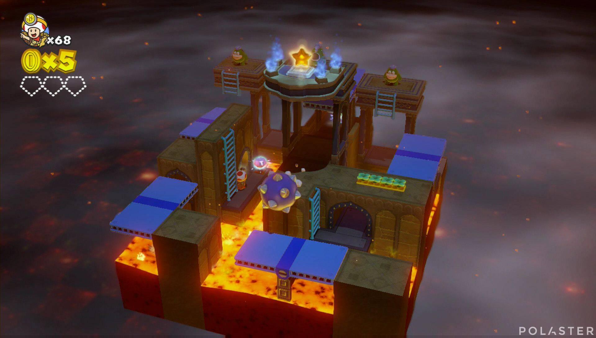 Captain Toad: Treasure Tracker Parte 3 Nivel 2 Superdiamante 1