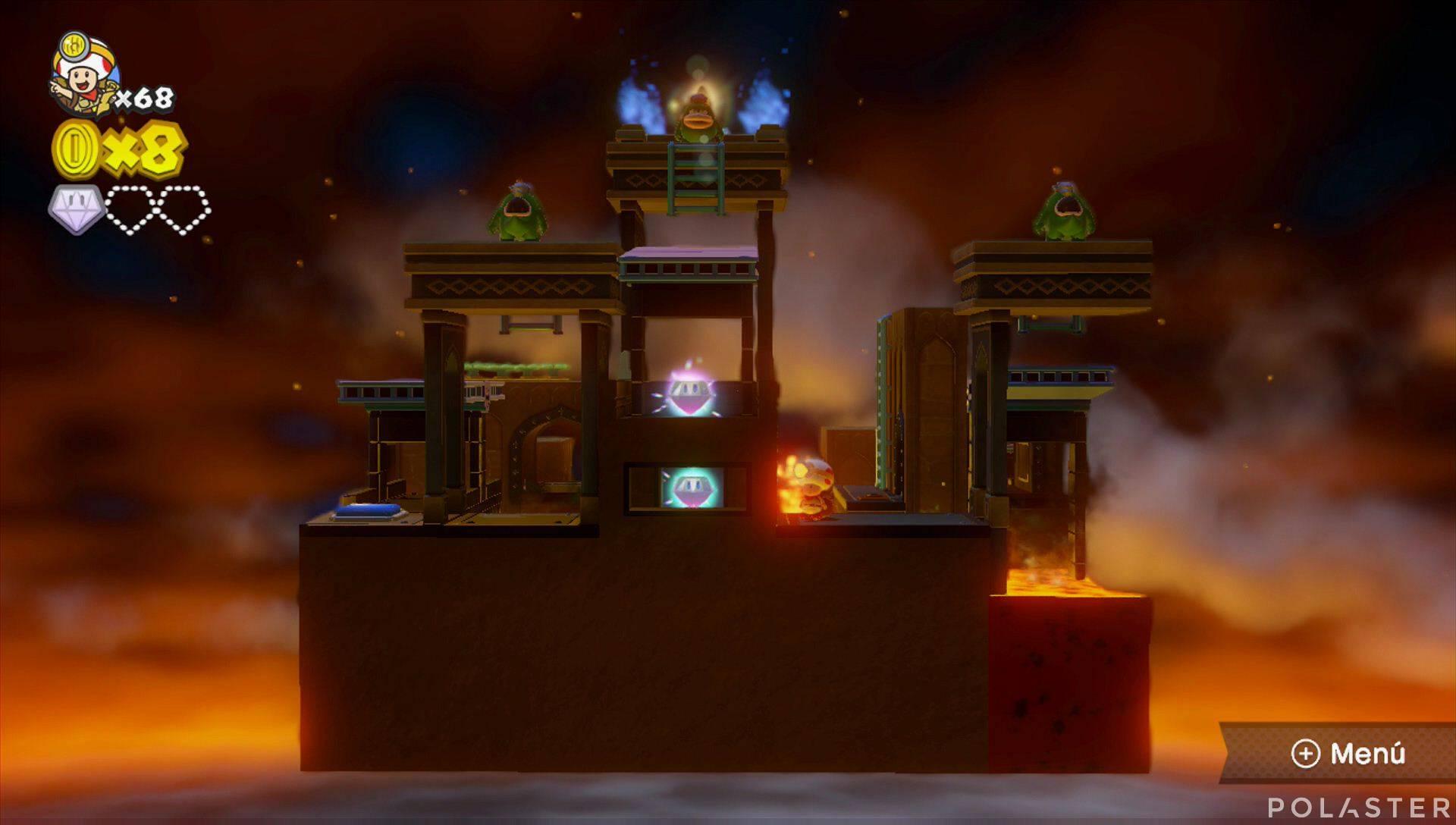 Captain Toad: Treasure Tracker Parte 3 Nivel 2 Superdiamante 2