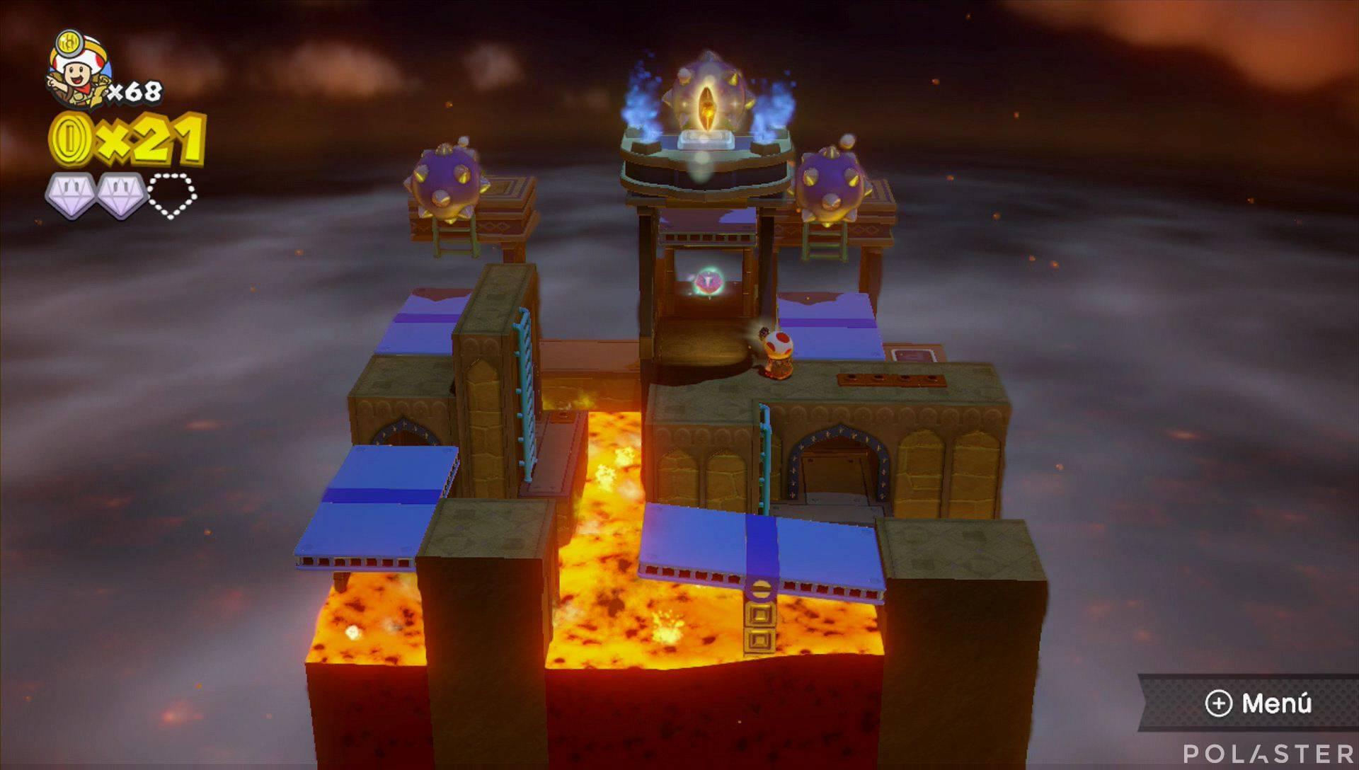 Captain Toad: Treasure Tracker Parte 3 Nivel 2 Superdiamante 3