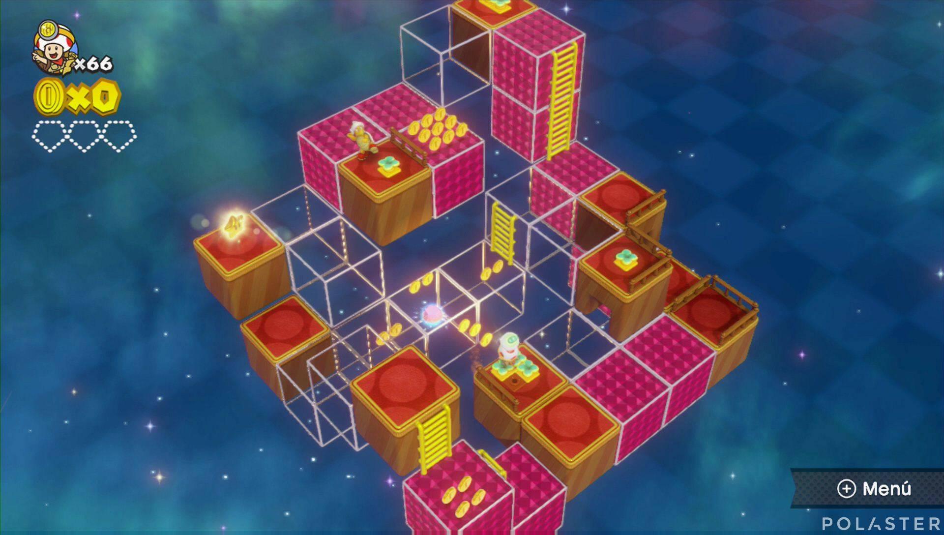 Captain Toad: Treasure Tracker Parte 3 Nivel 3 Superdiamante 1