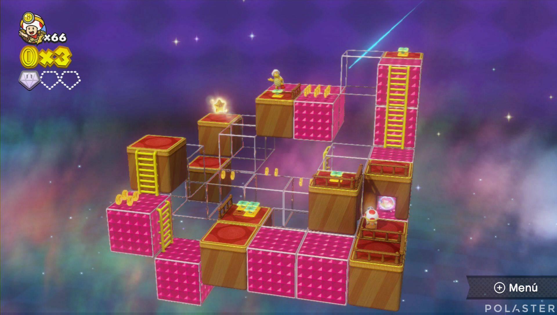 Captain Toad: Treasure Tracker Parte 3 Nivel 3 Superdiamante 2