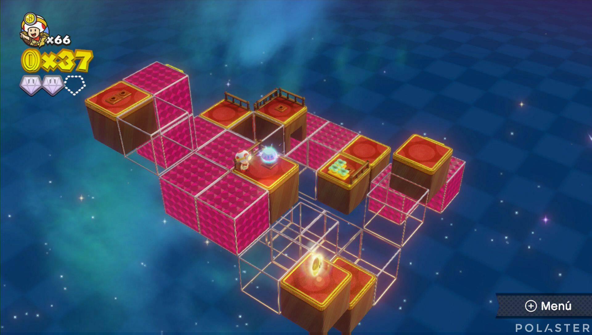 Captain Toad: Treasure Tracker Parte 3 Nivel 3 Superdiamante 3