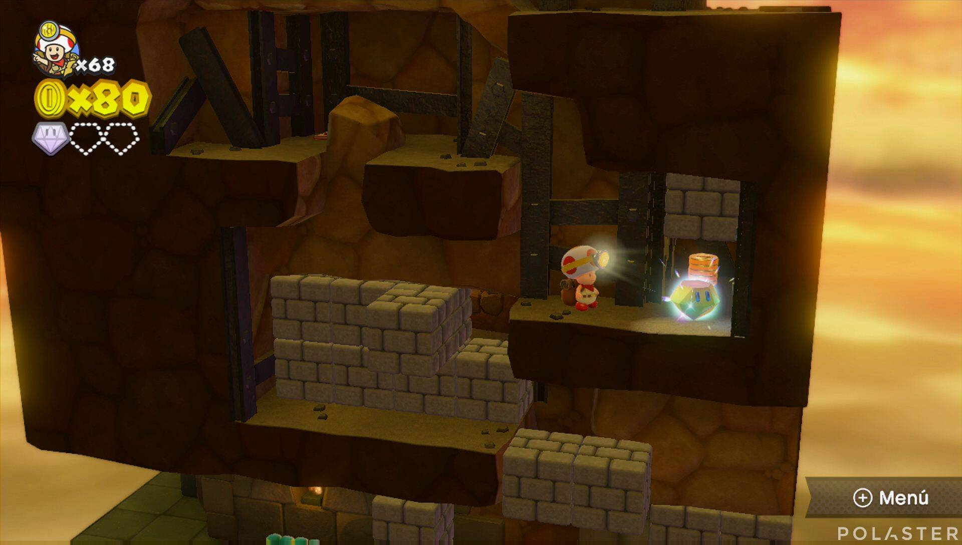 Captain Toad: Treasure Tracker Parte 3 Nivel 4 Superdiamante 2