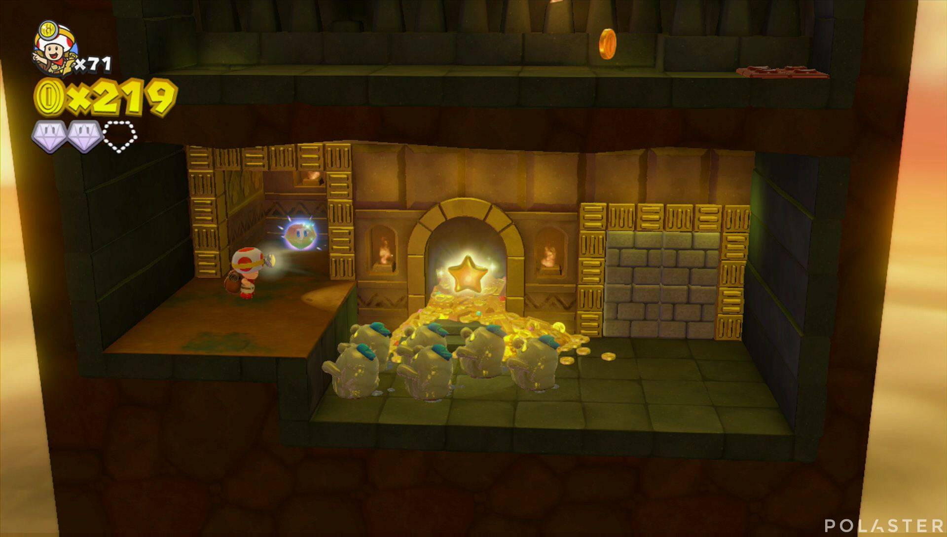 Captain Toad: Treasure Tracker Parte 3 Nivel 4 Superdiamante 3