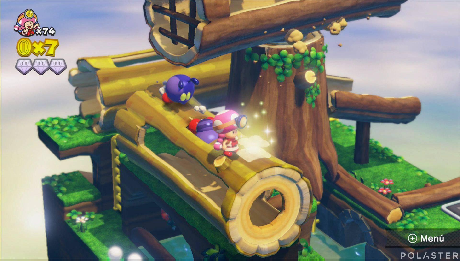 Captain Toad: Treasure Tracker Parte 3 Nivel 5 Champiñón dorado