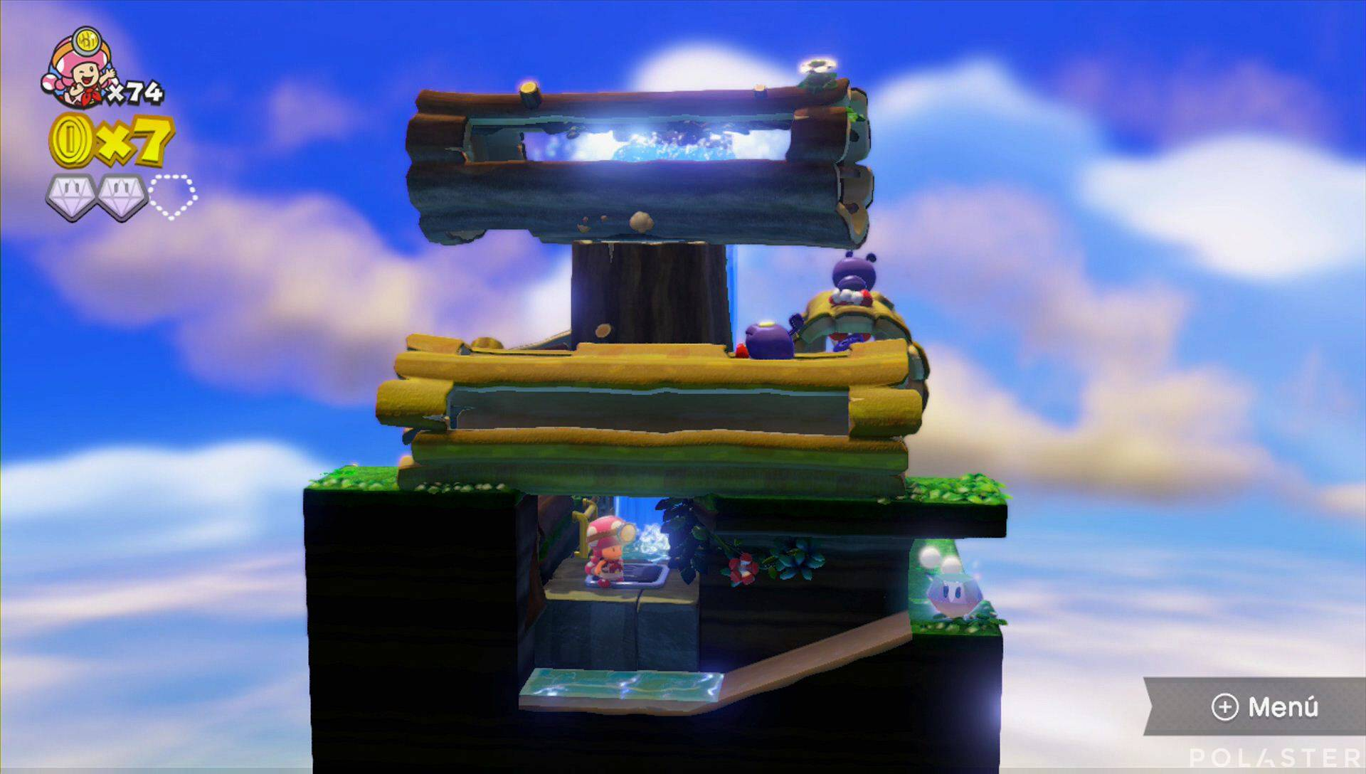 Captain Toad: Treasure Tracker Parte 3 Nivel 5 Superdiamante 3