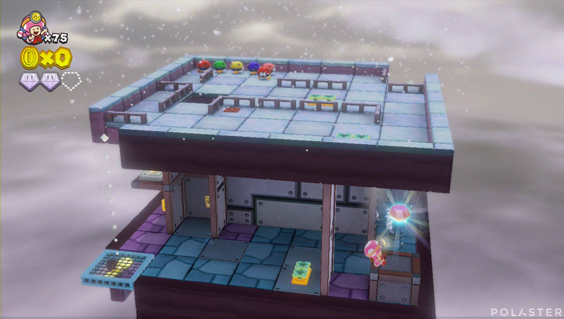 Captain Toad: Treasure Tracker Parte 3 Nivel 6 Superdiamante 2