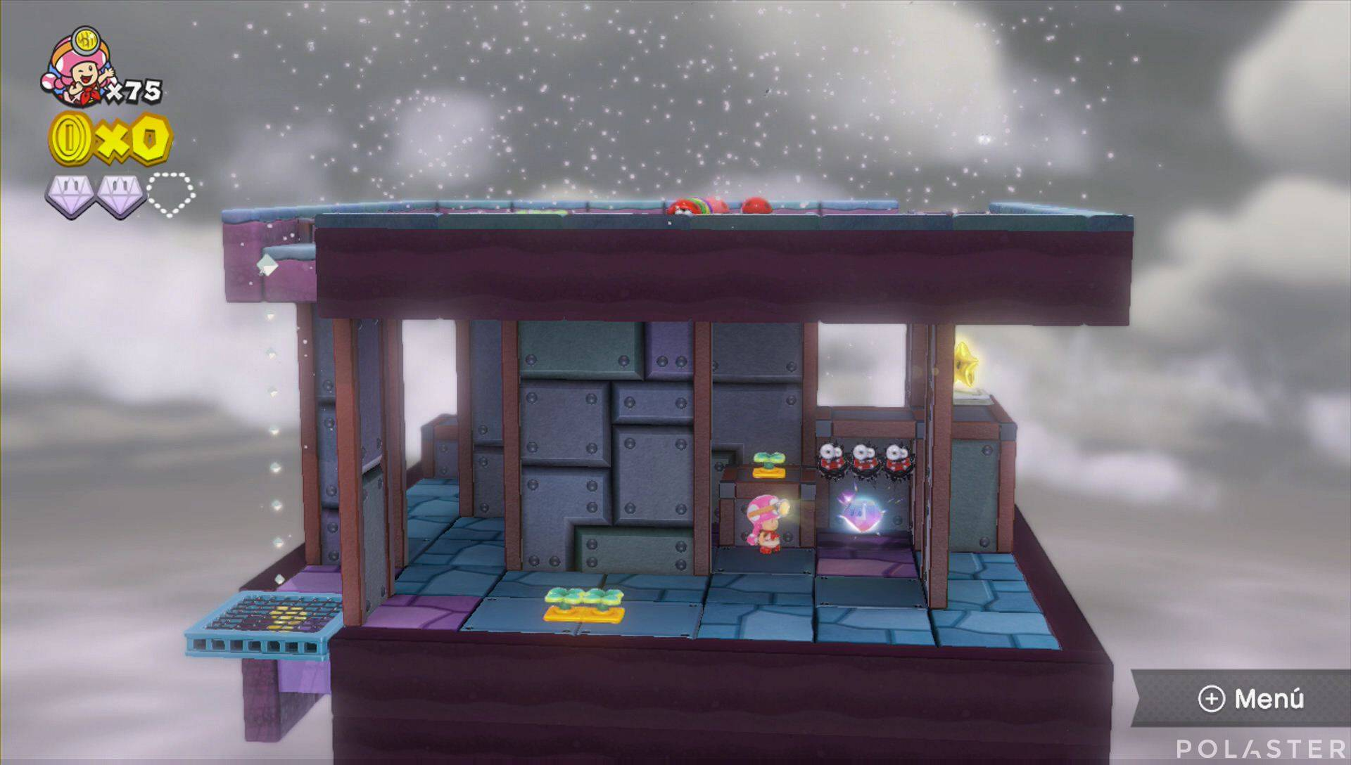 Captain Toad: Treasure Tracker Parte 3 Nivel 6 Superdiamante 3