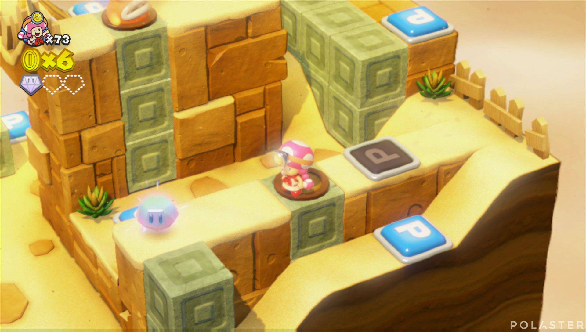 Captain Toad: Treasure Tracker Parte 3 Nivel 8 Superdiamante 2