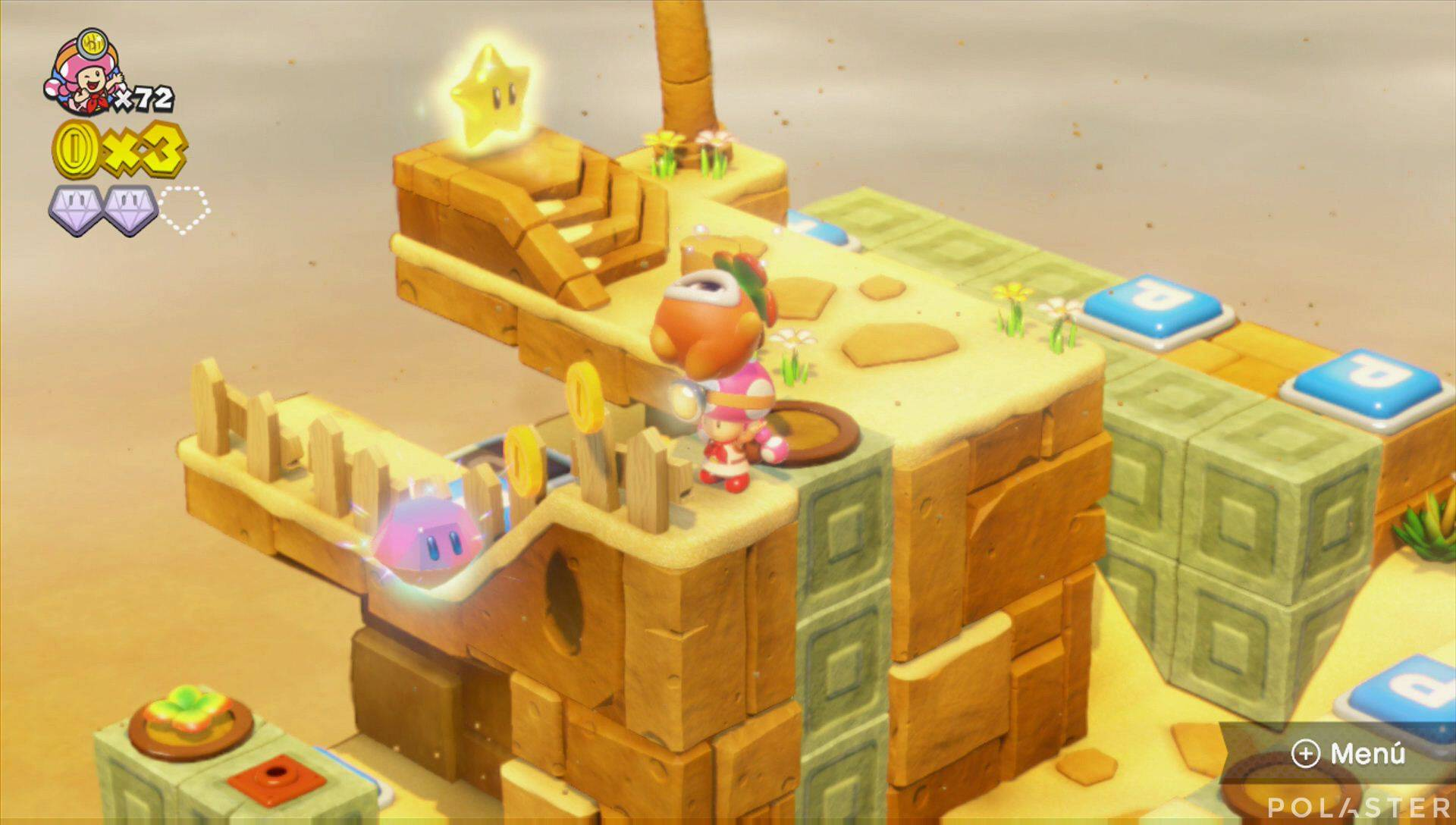 Captain Toad: Treasure Tracker Parte 3 Nivel 8 Superdiamante 3
