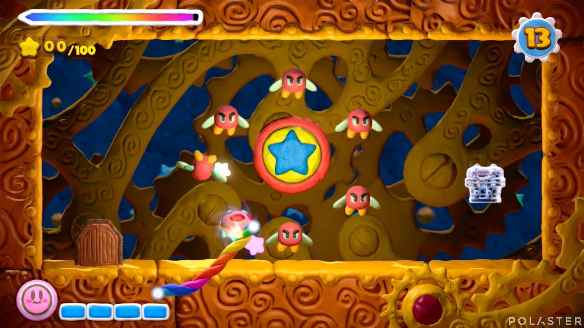 Kirby y el Pincel Arcoíris - Desafío 10 Cofre 1