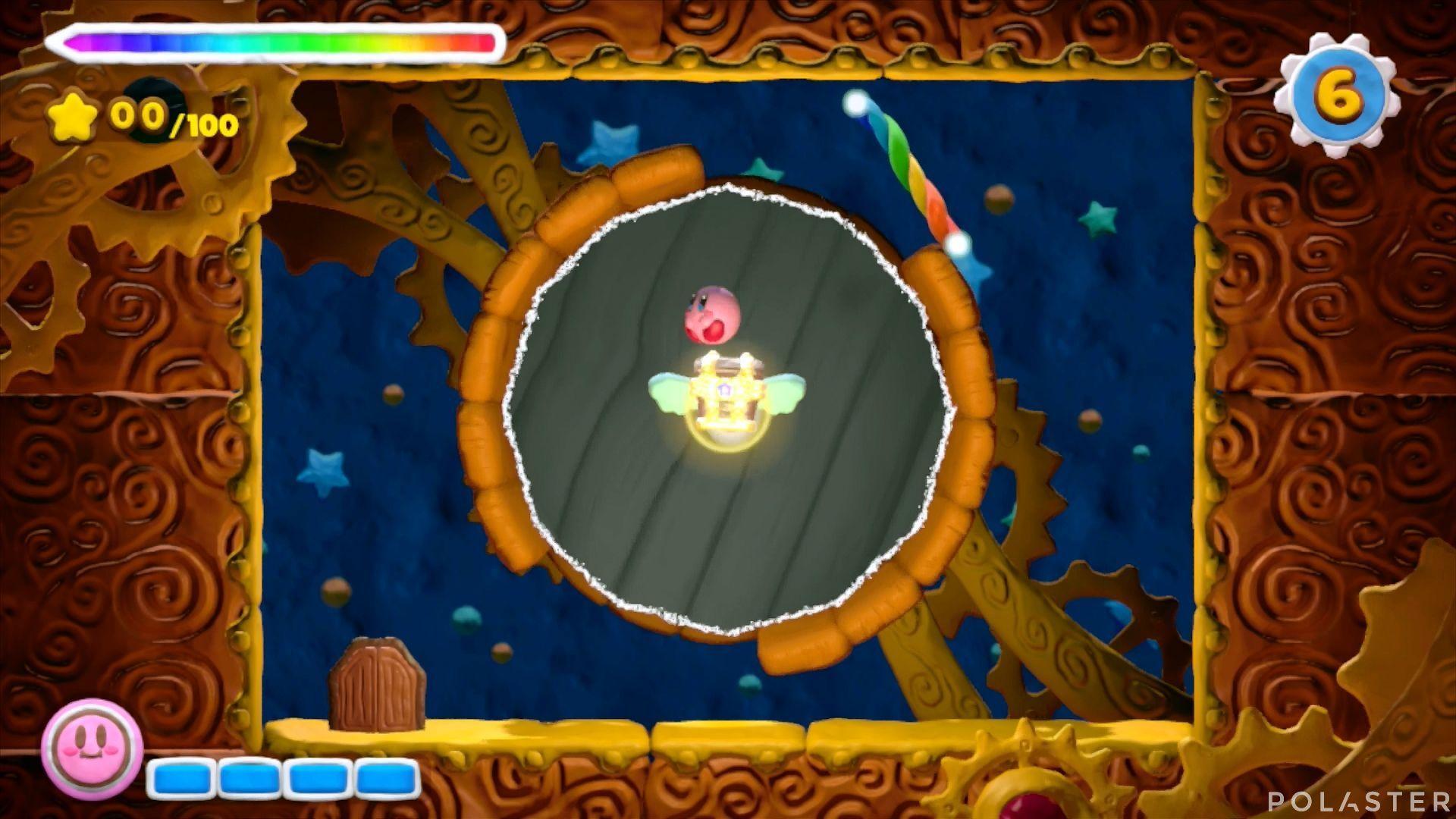 Kirby y el Pincel Arcoíris - Desafío 10 Cofre 4