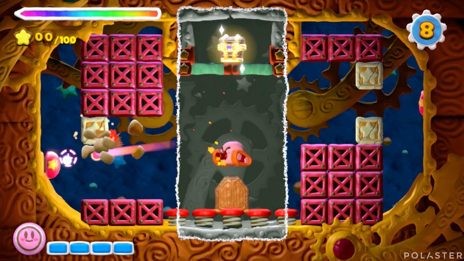 Kirby y el Pincel Arcoíris - Desafío 11 Cofre 3