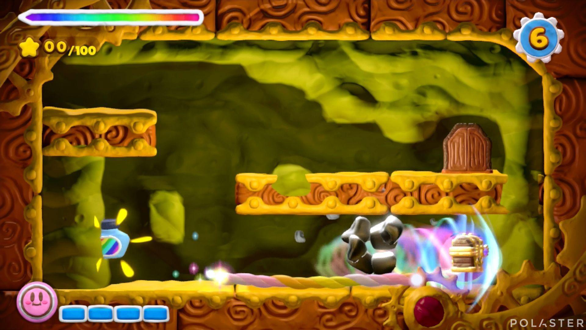 Kirby y el Pincel Arcoíris - Desafío 12 Cofre 1