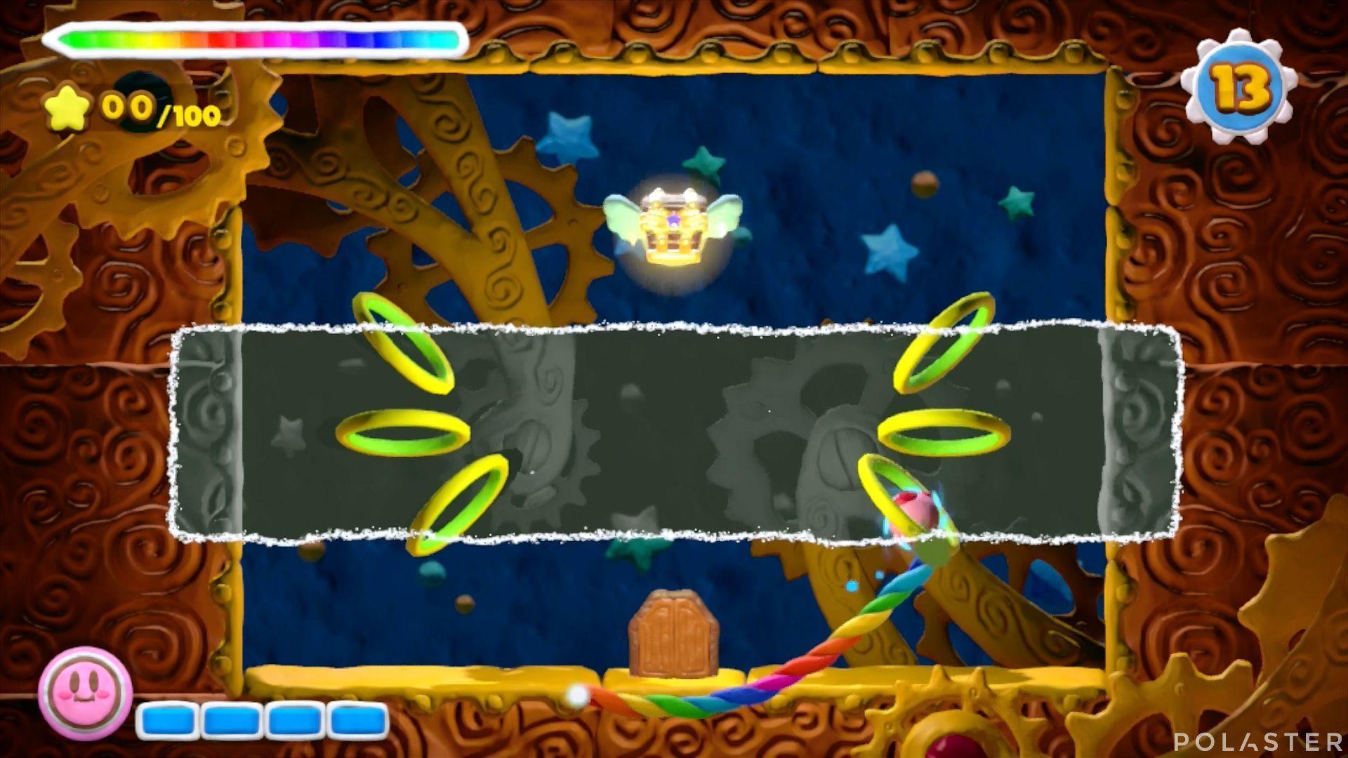 Kirby y el Pincel Arcoíris - Desafío 14 Cofre 1