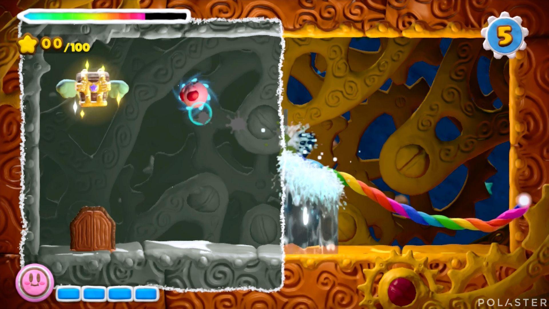 Kirby y el Pincel Arcoíris - Desafío 15 Cofre 3