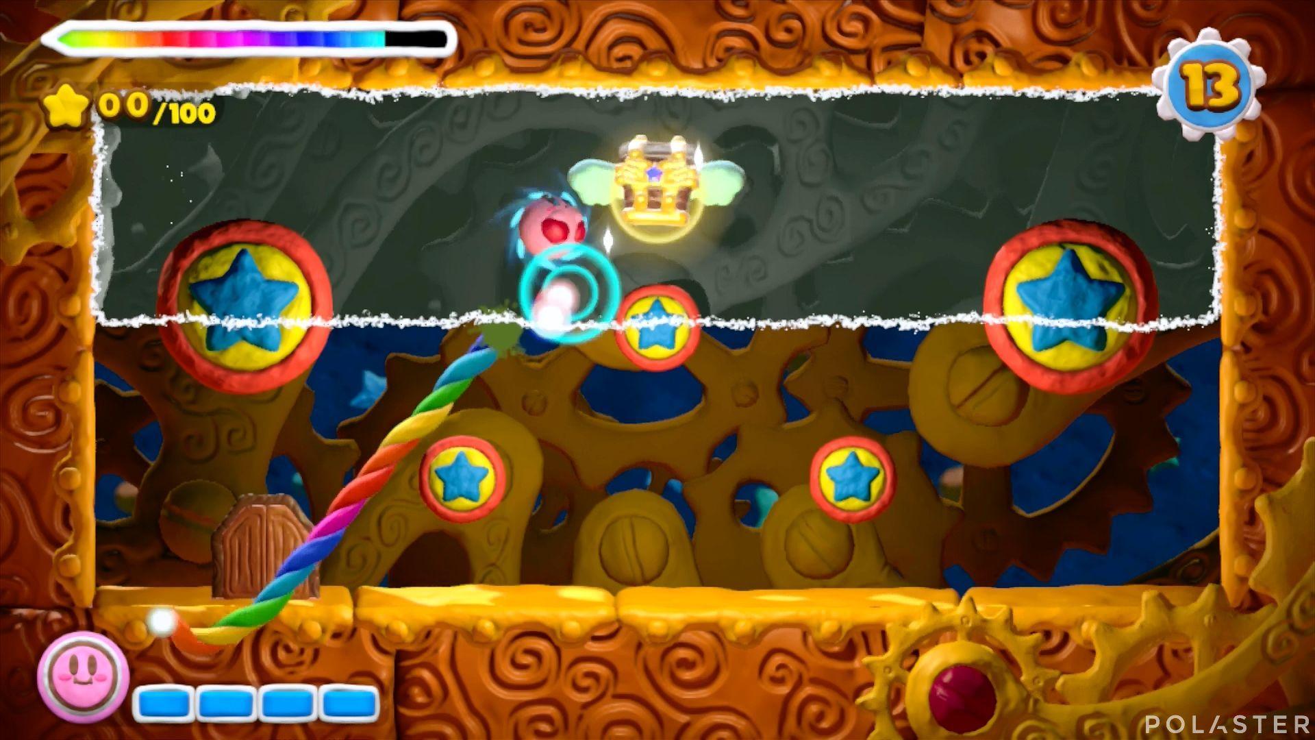 Kirby y el Pincel Arcoíris - Desafío 16 Cofre 3
