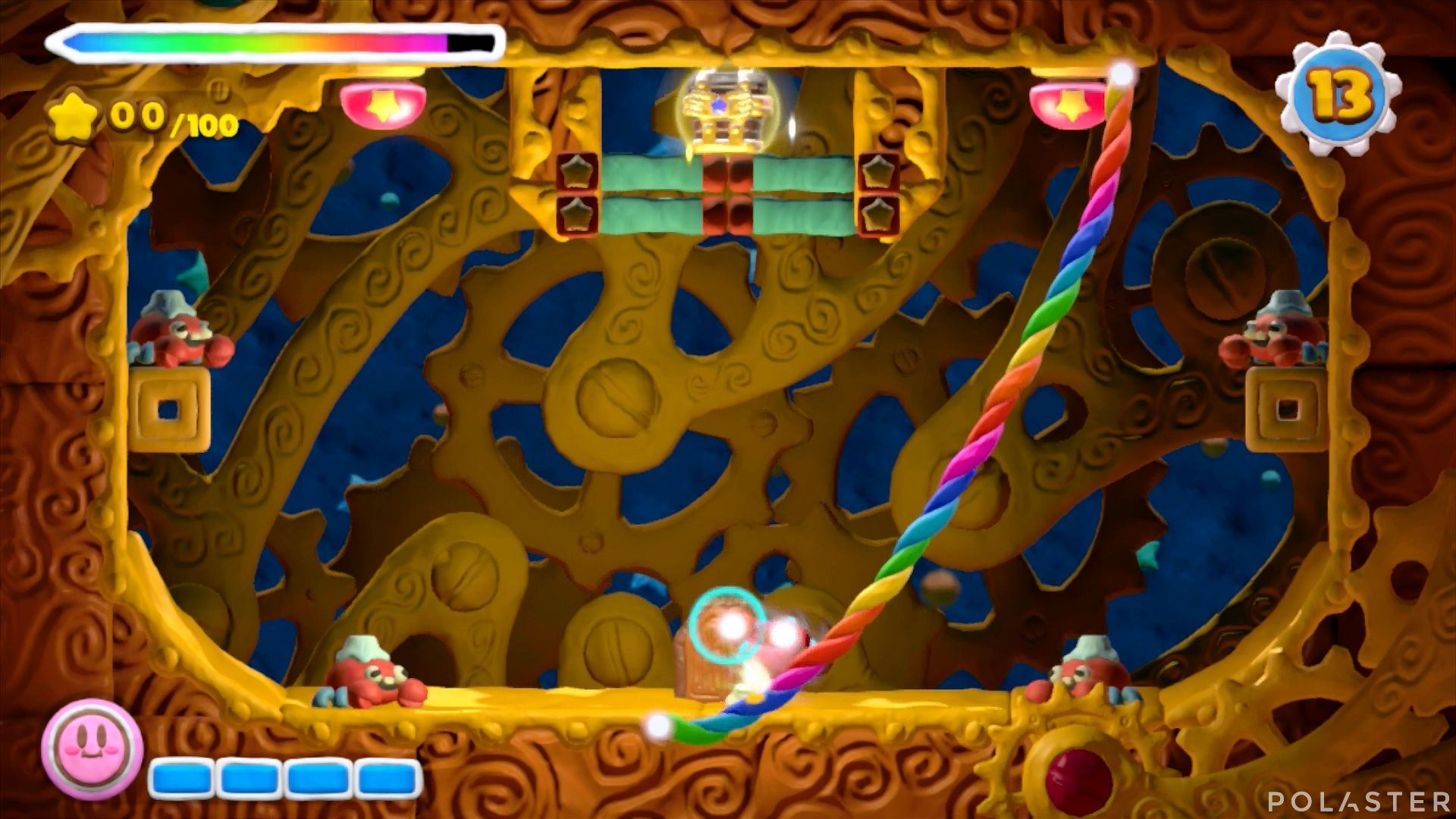 Kirby y el Pincel Arcoíris - Desafío 17: Cofre 1