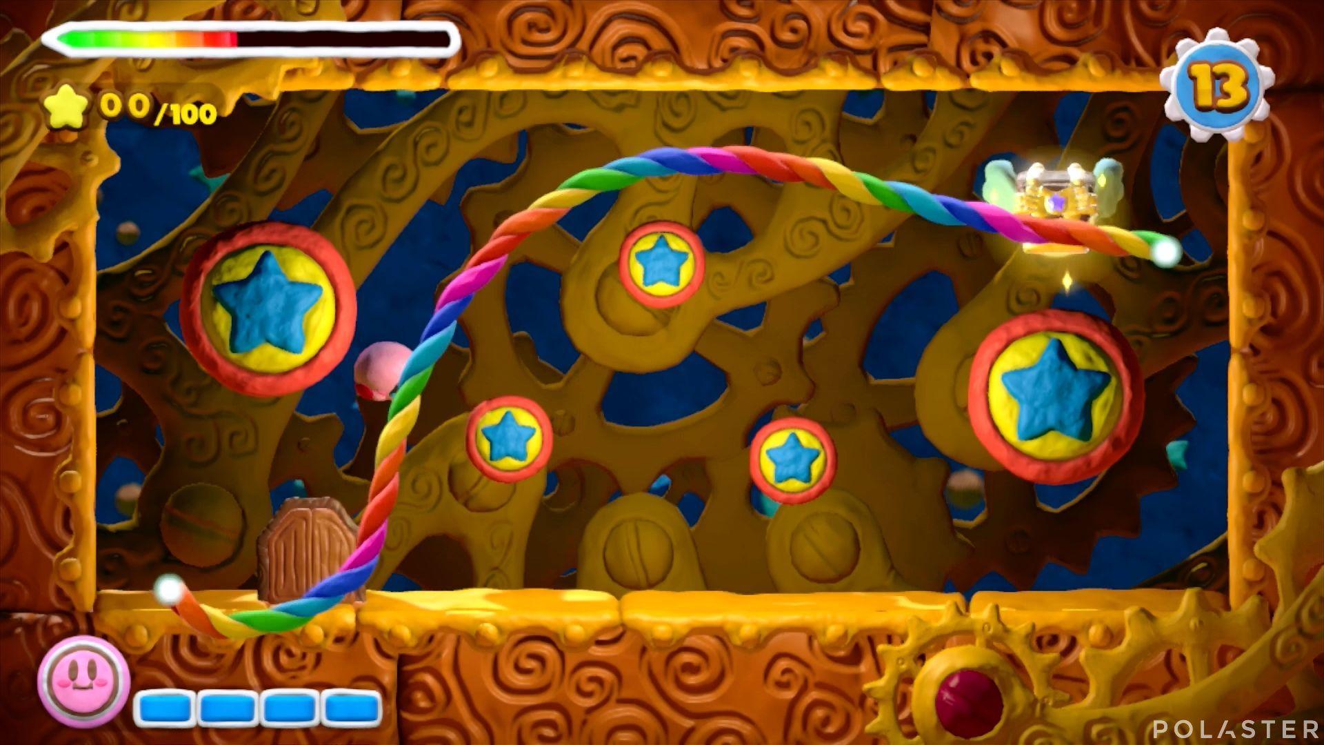 Kirby y el Pincel Arcoíris - Desafío 1 Cofre 2