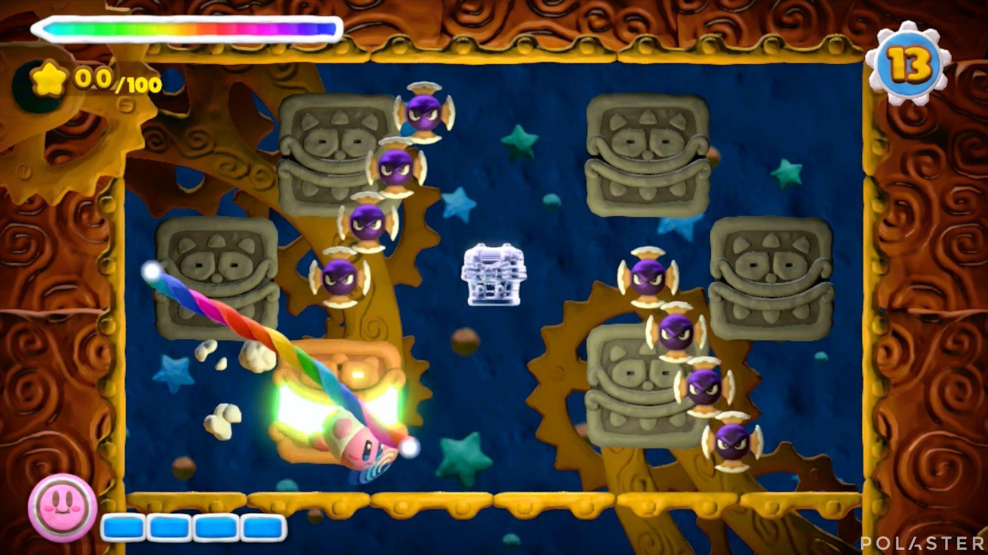 Kirby y el Pincel Arcoíris - Desafío 25: Cofre 4