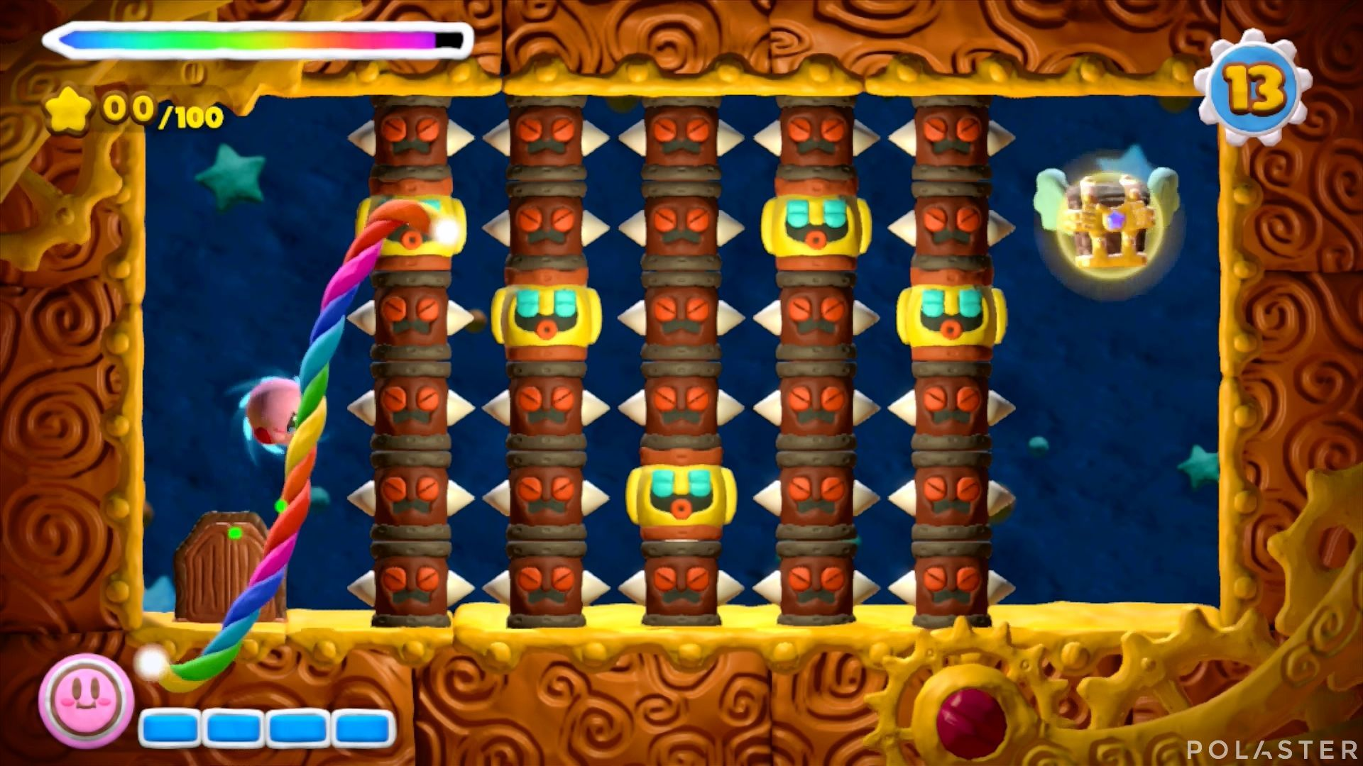 Kirby y el Pincel Arcoíris - Desafío 28: Cofre 1