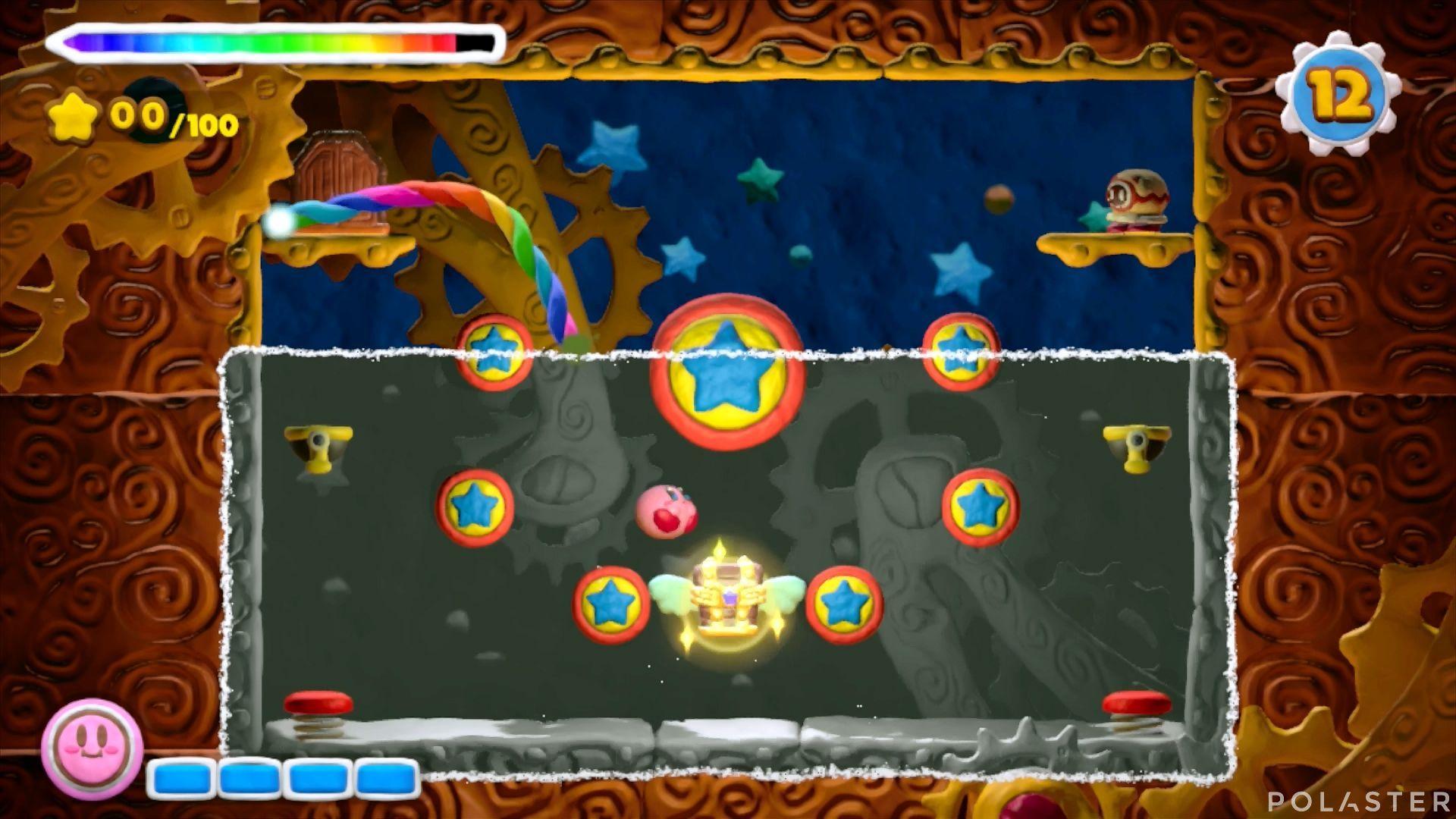 Kirby y el Pincel Arcoíris - Desafío 47: Cofre 1