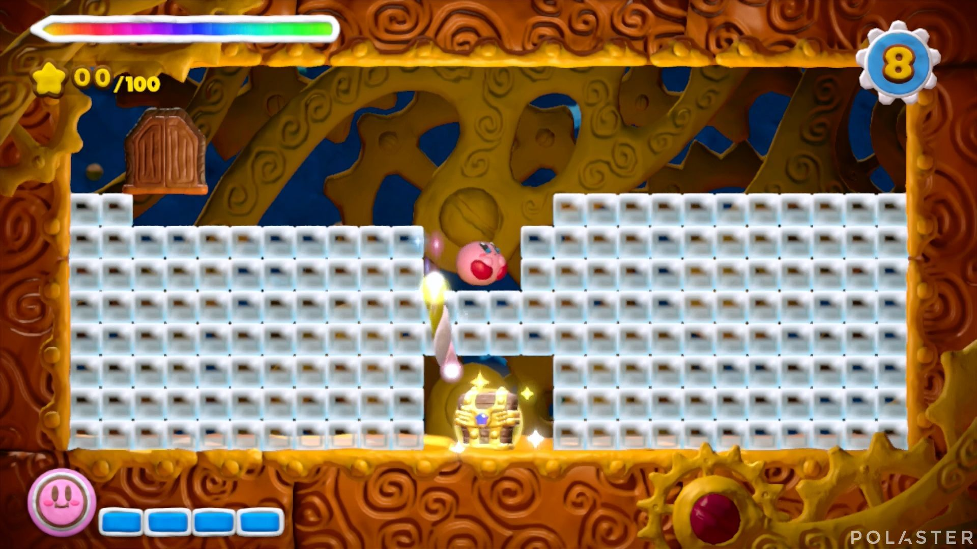 Kirby y el Pincel Arcoíris - Desafío 6 Cofre 4