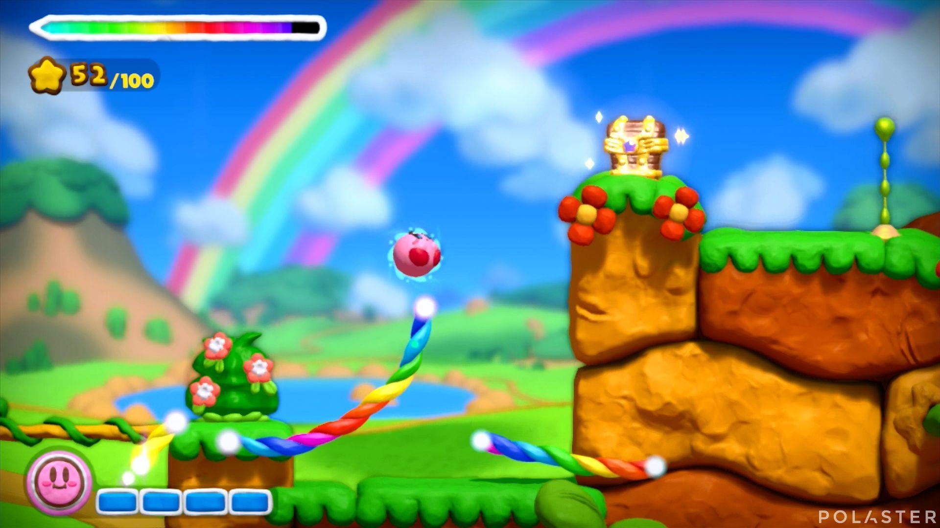 Kirby y el Pincel Arcoíris: Nivel 1-1 Cofre 1