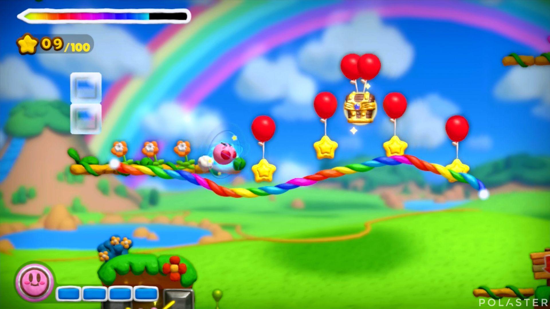 Kirby y el Pincel Arcoíris: Nivel 1-1 Cofre 5