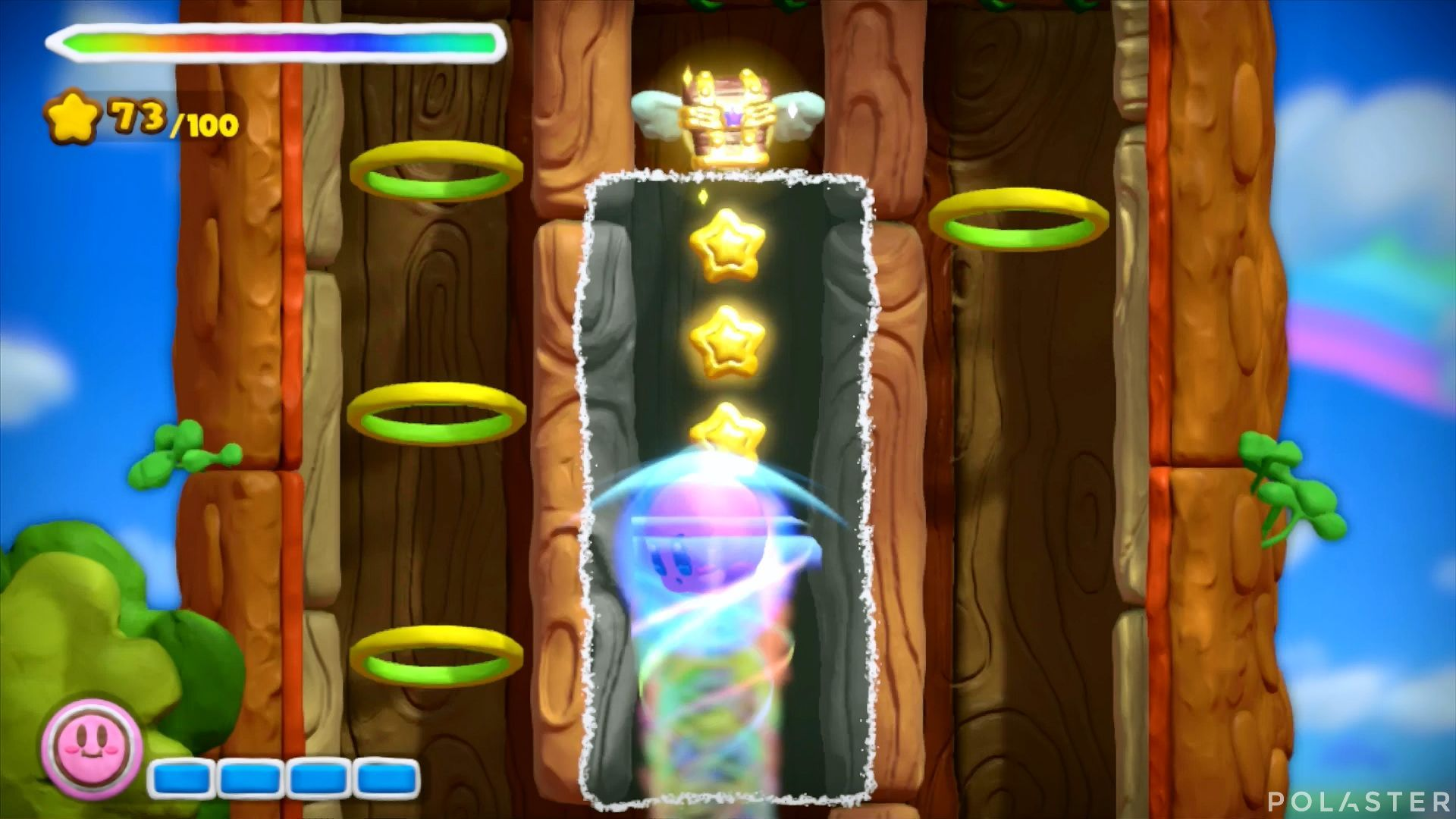 Kirby y el Pincel Arcoíris: Nivel 1-2 Cofre 1