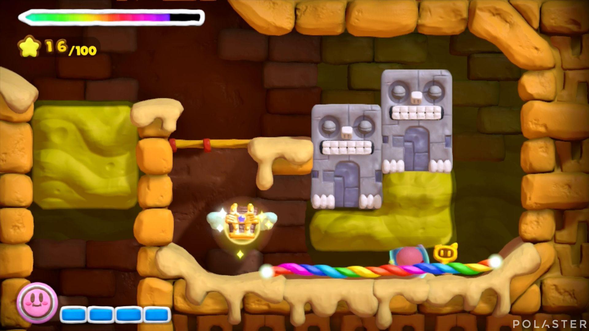 Kirby y el Pincel Arcoíris: Nivel 2-1 Cofre 3
