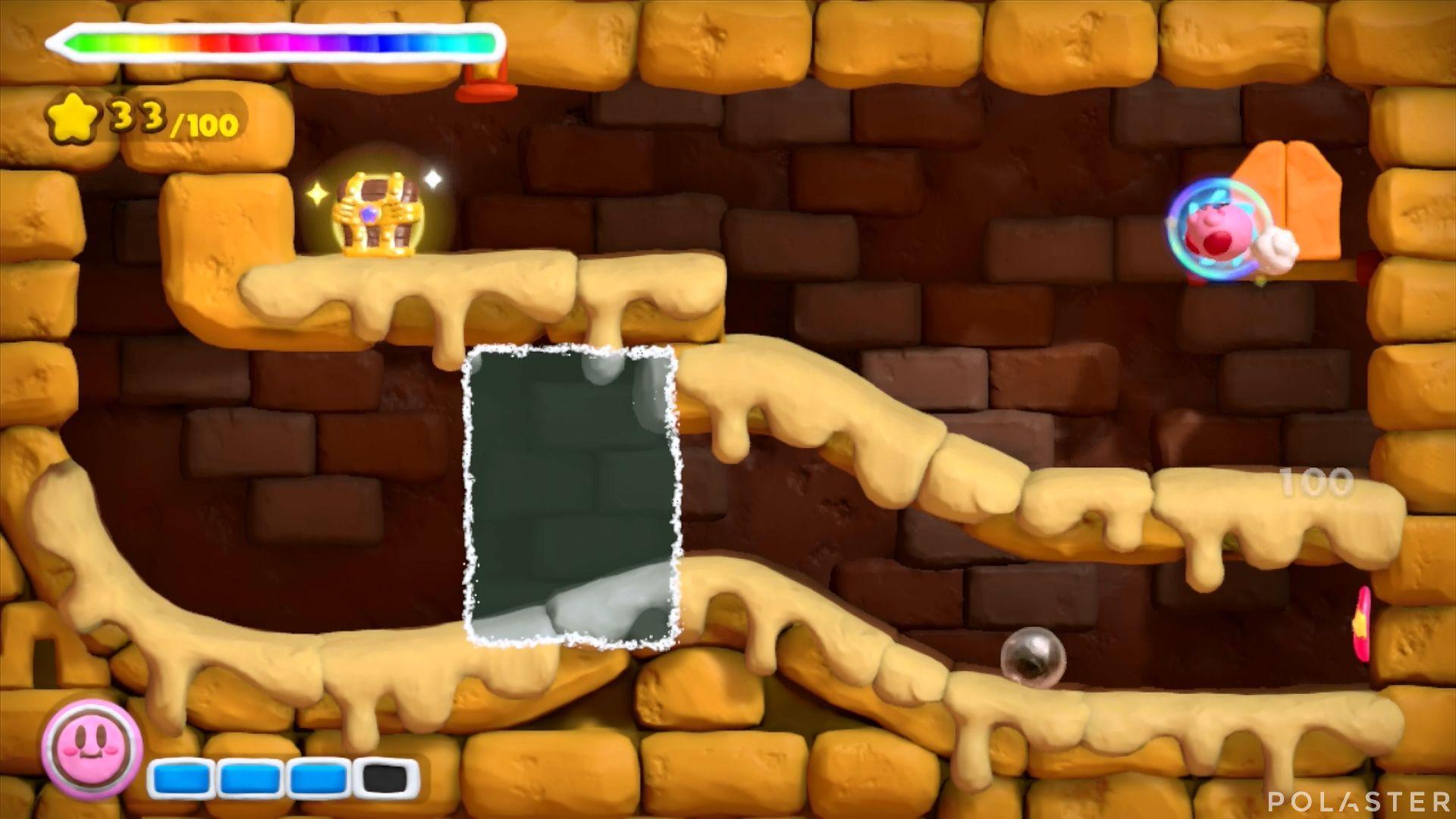 Kirby y el Pincel Arcoíris: Nivel 2-1 Cofre 5