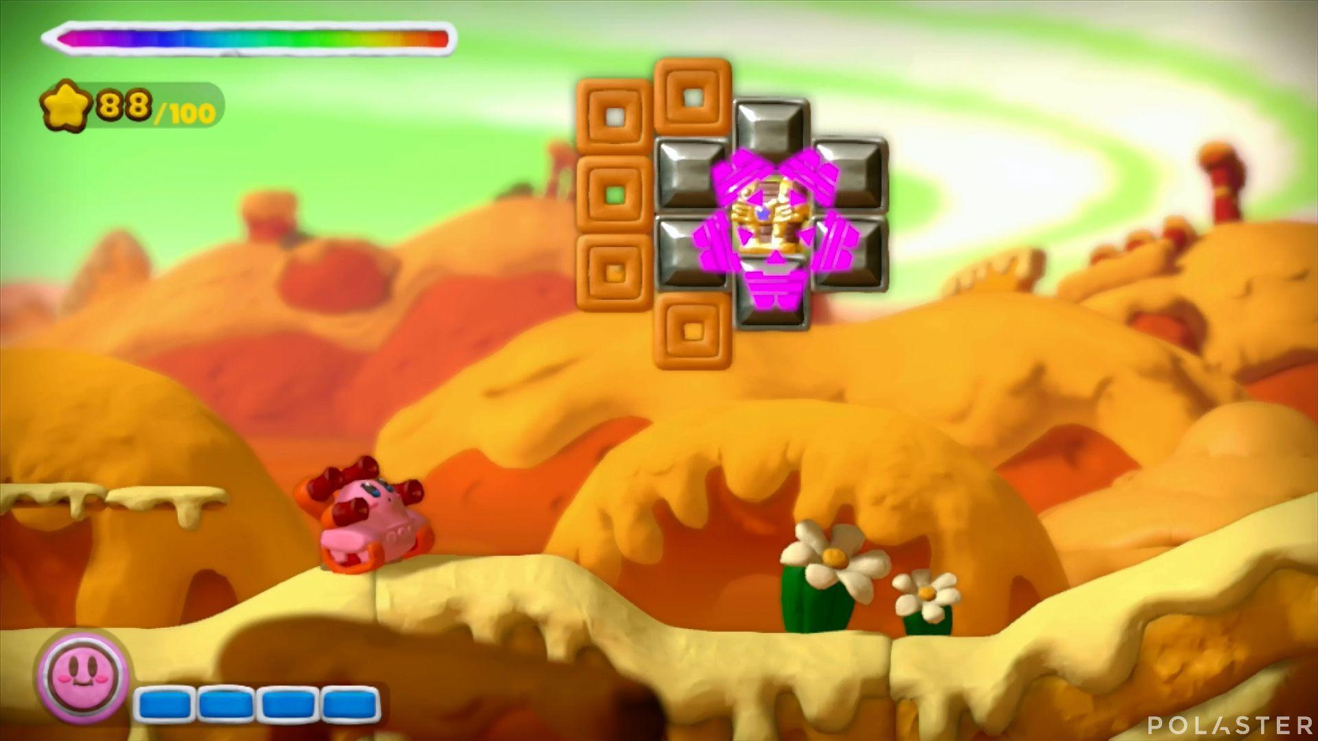 Kirby y el Pincel Arcoíris: Nivel 2-2 Cofre 1