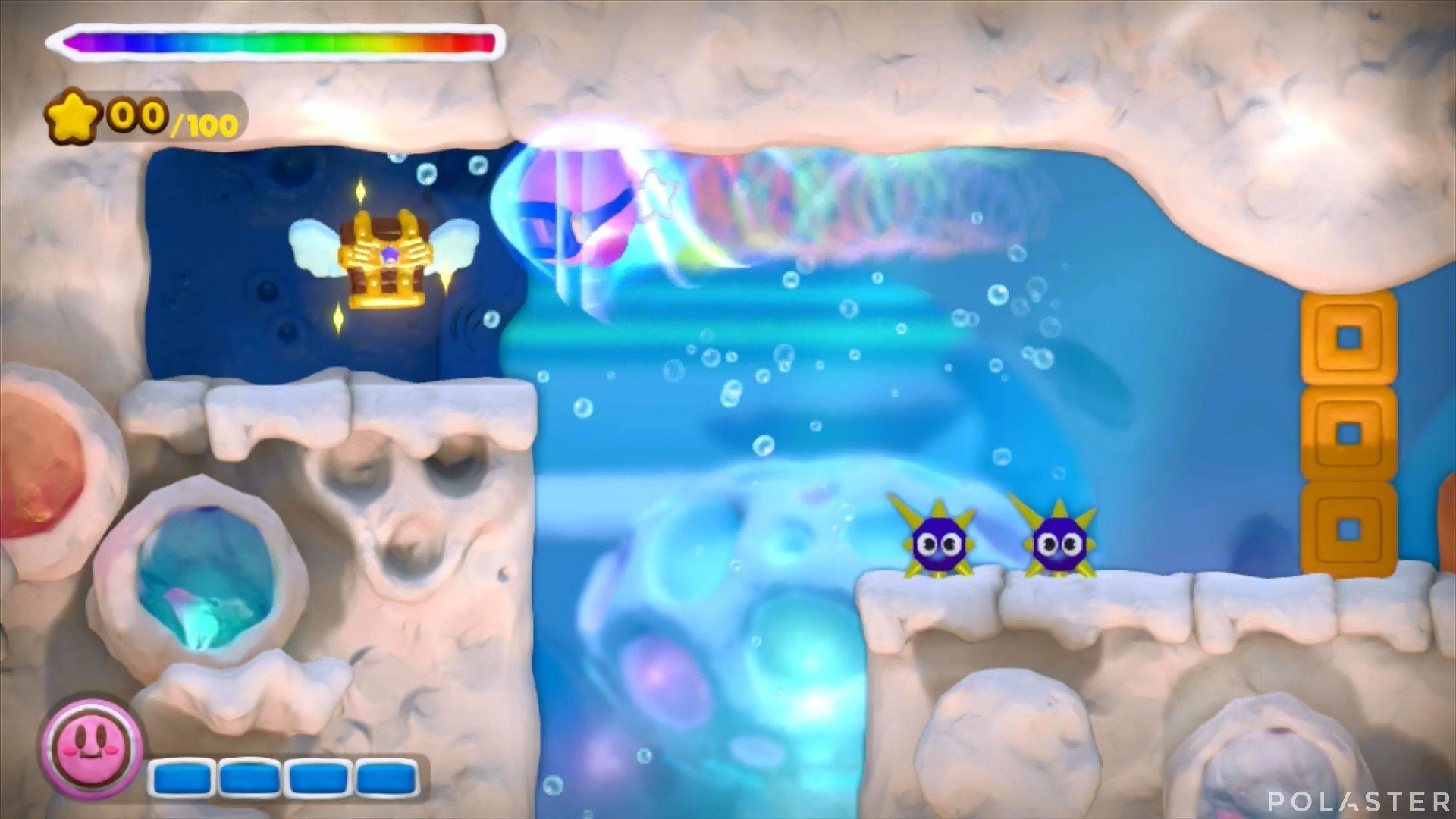 Kirby y el Pincel Arcoíris: Nivel 3-1 Cofre 2