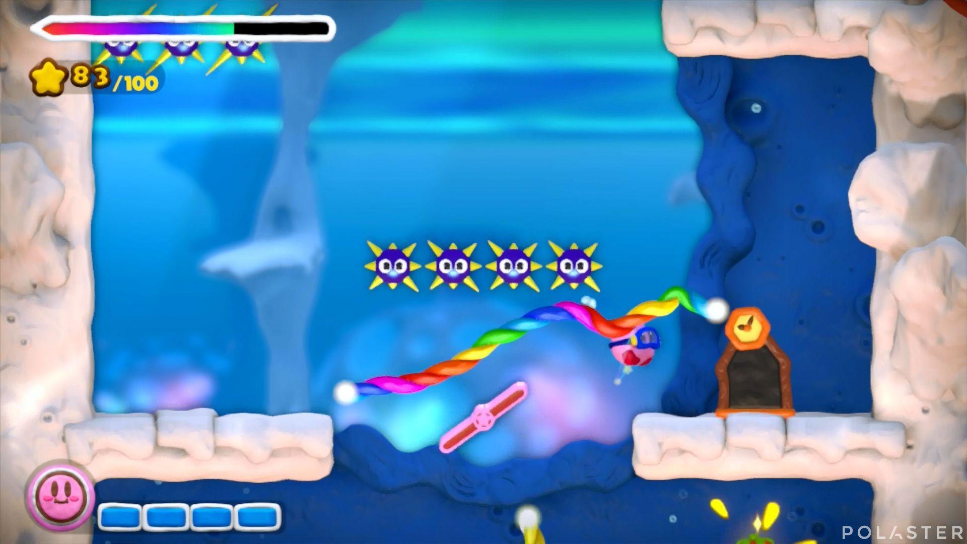 Kirby y el Pincel Arcoíris: Nivel 3-1 Cofre 3