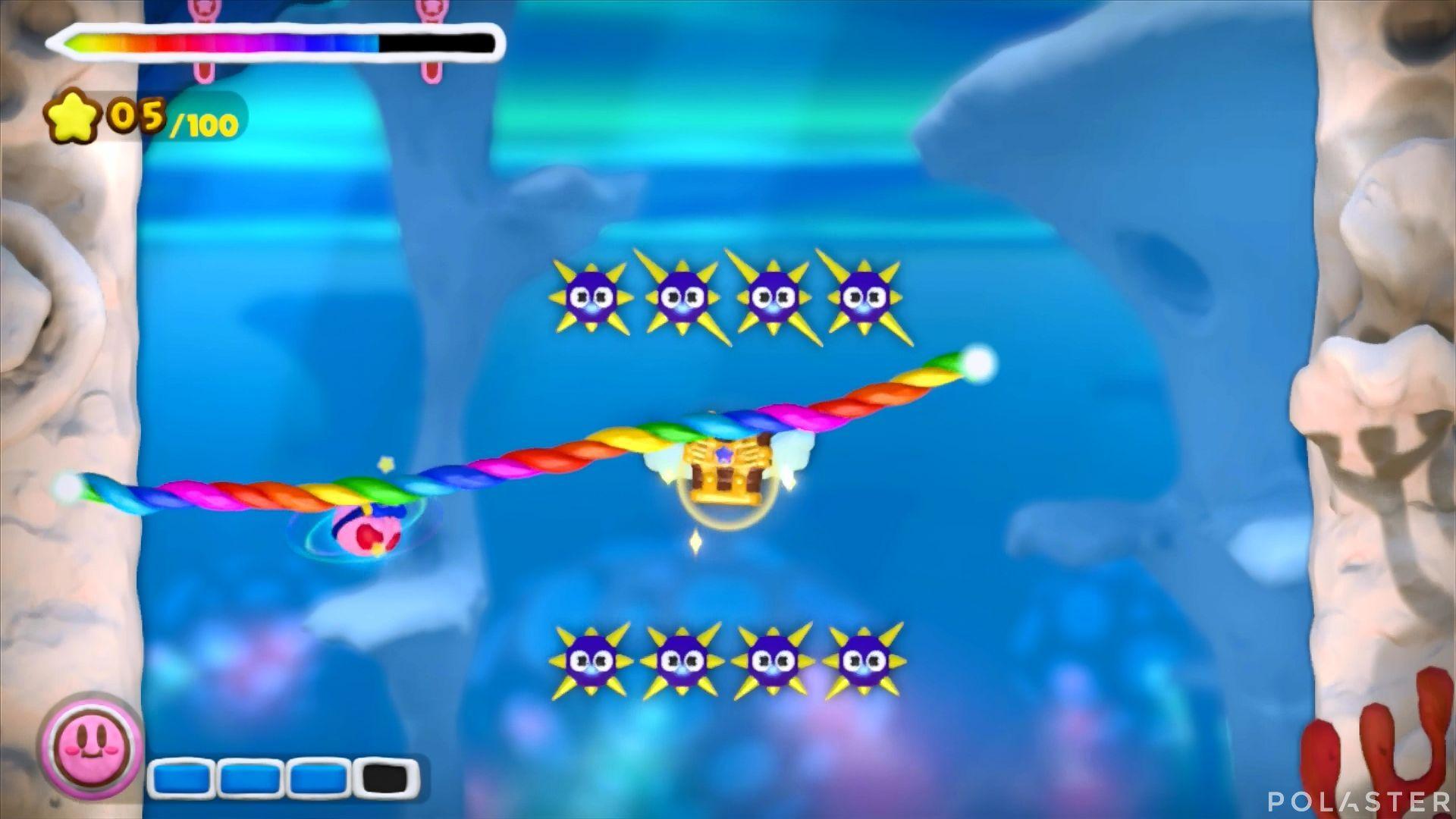 Kirby y el Pincel Arcoíris: Nivel 3-1 Cofre 4