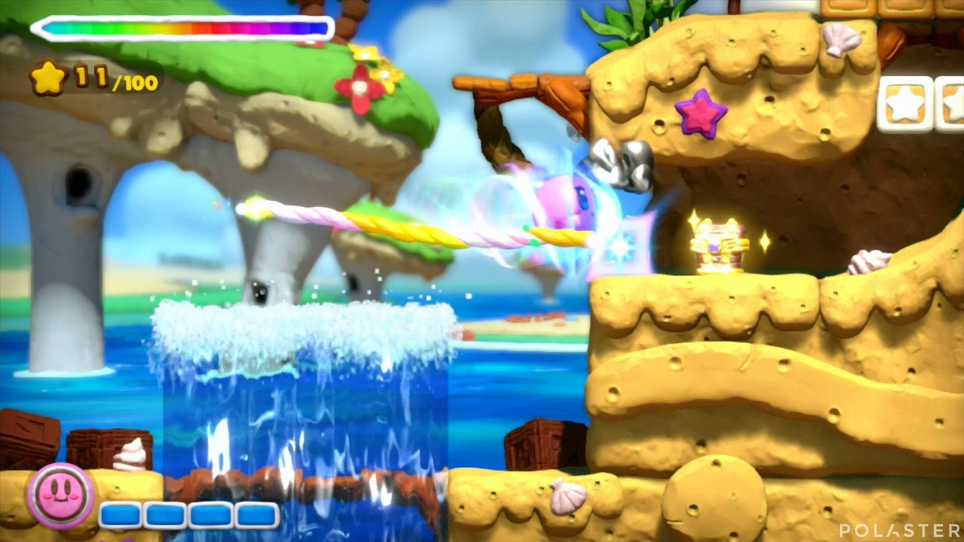 Kirby y el Pincel Arcoíris: Nivel 3-1 Cofre 5
