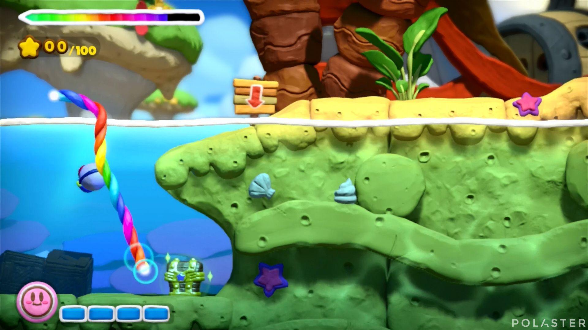 Kirby y el Pincel Arcoíris: Nivel 3-2 Cofre 1